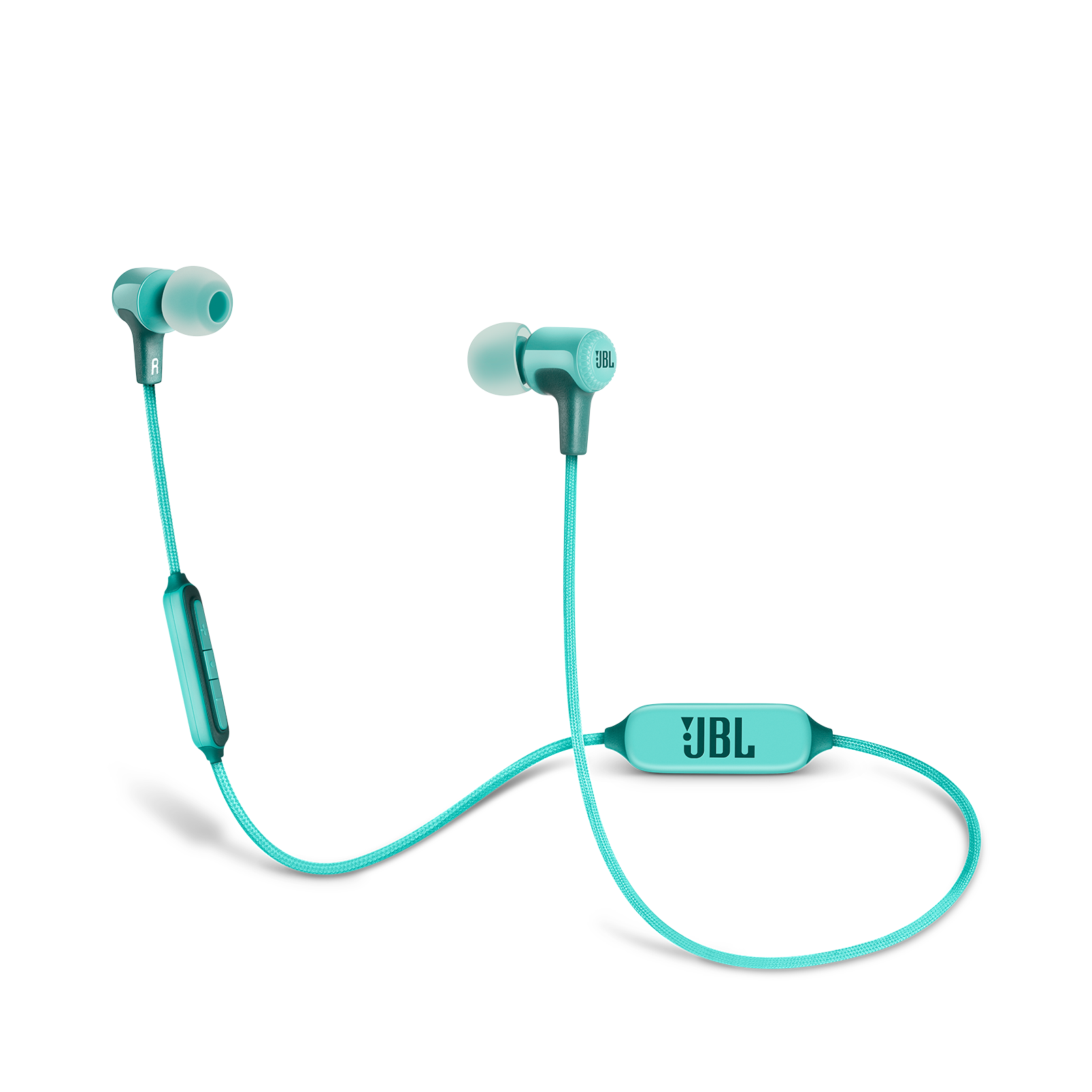 E25BT - Teal - Wireless in-ear headphones - Hero