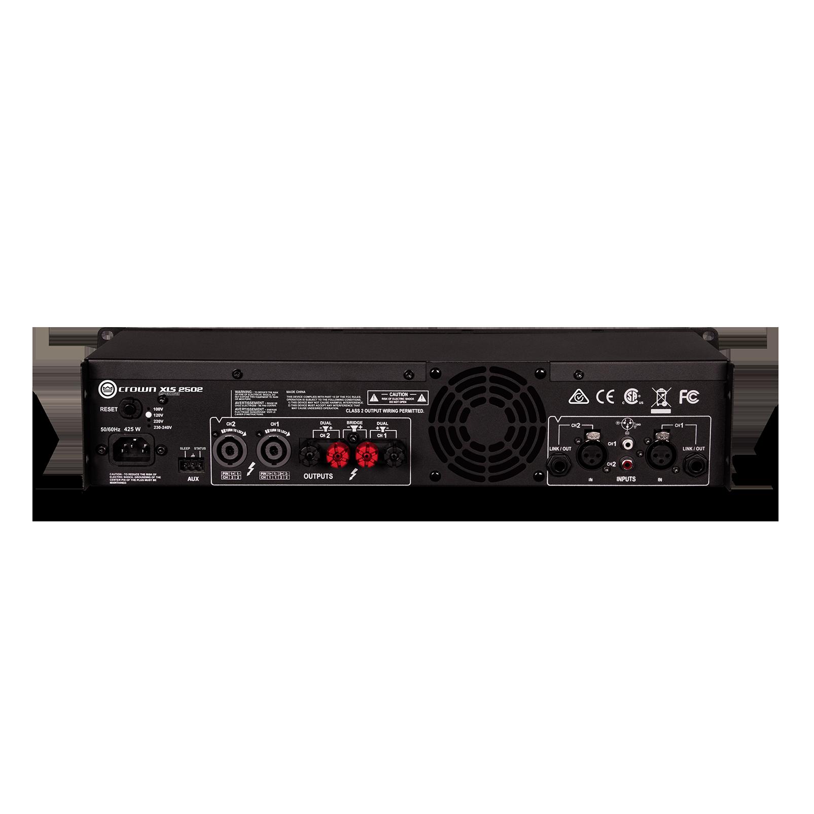 XLS 2502 - Black - Two-channel, 775W @ 4Ω power amplifier - Back