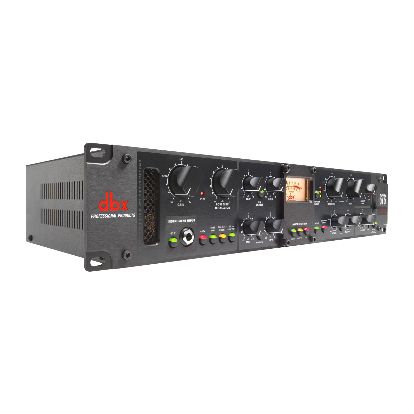 676 - Black - Tube Microphone Preamp Channel Strip - Detailshot 1