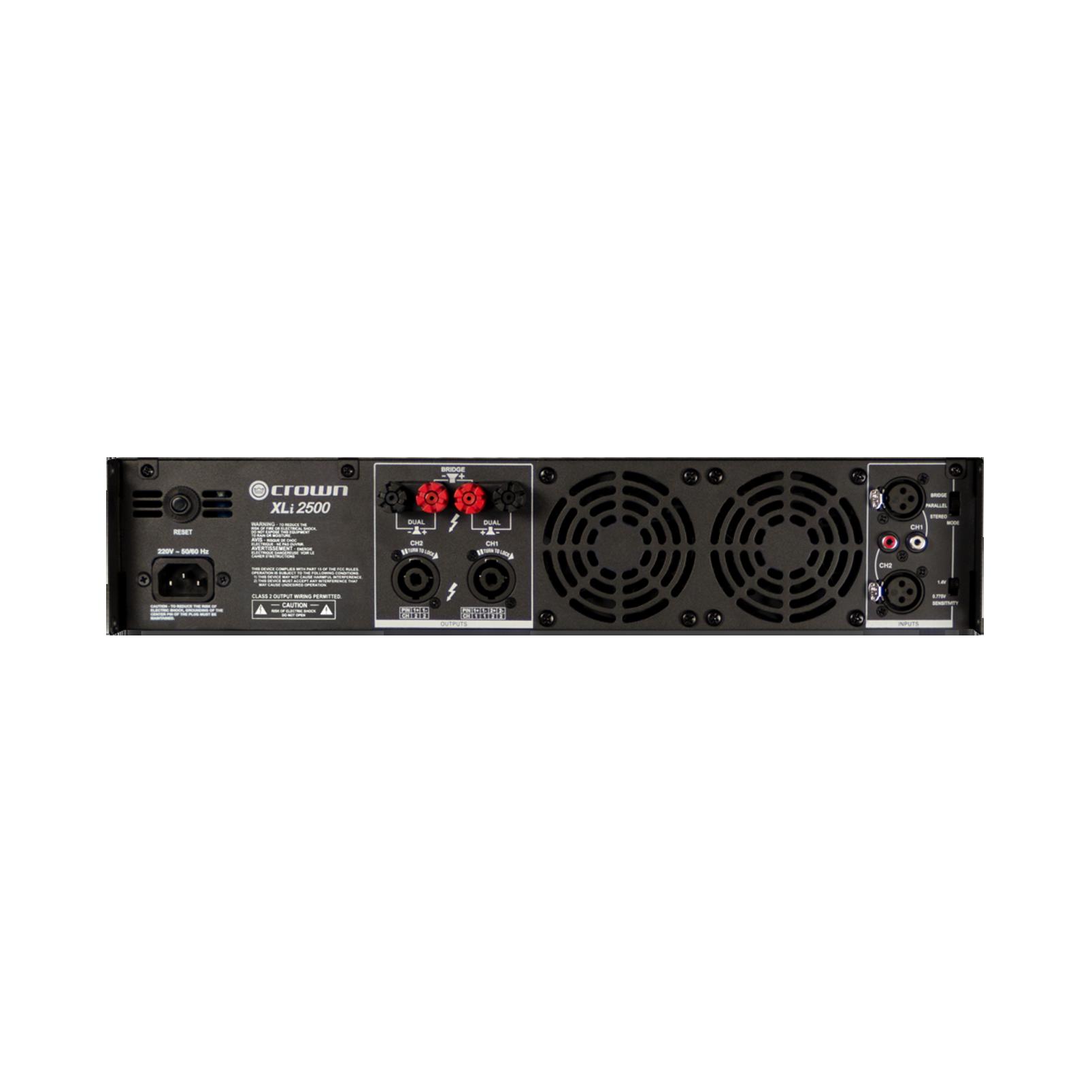 XLi 2500 - Grey - Two-channel, 750W @ 4Ω power amplifier - Back