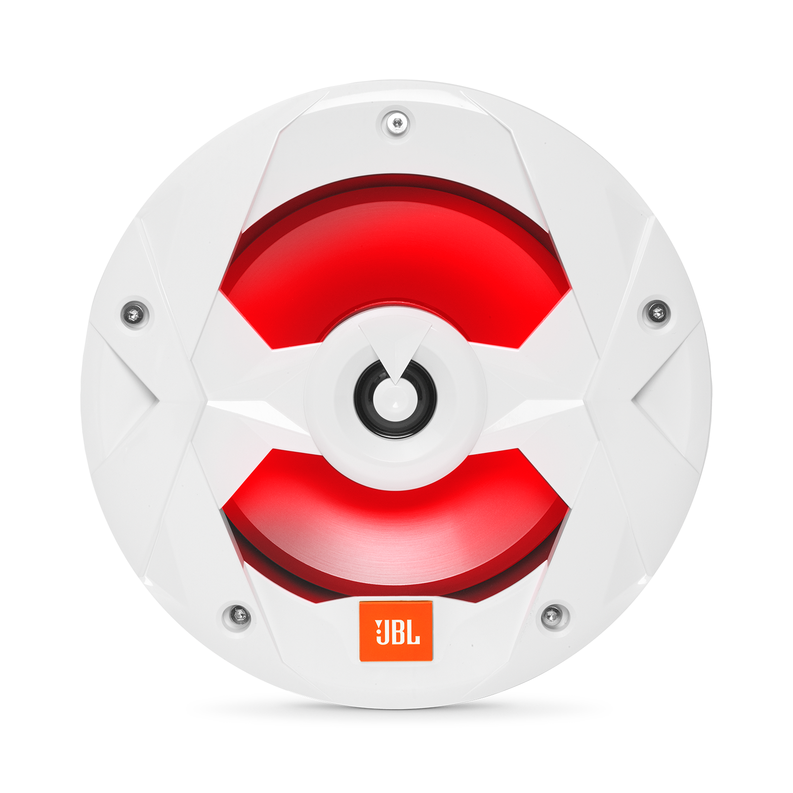 "Club Marine MS8LW - White Gloss - Club Marine MS8LW—8"" (200mm) two-way marine audio multi-element speaker with RGB lighting – White - Detailshot 3"