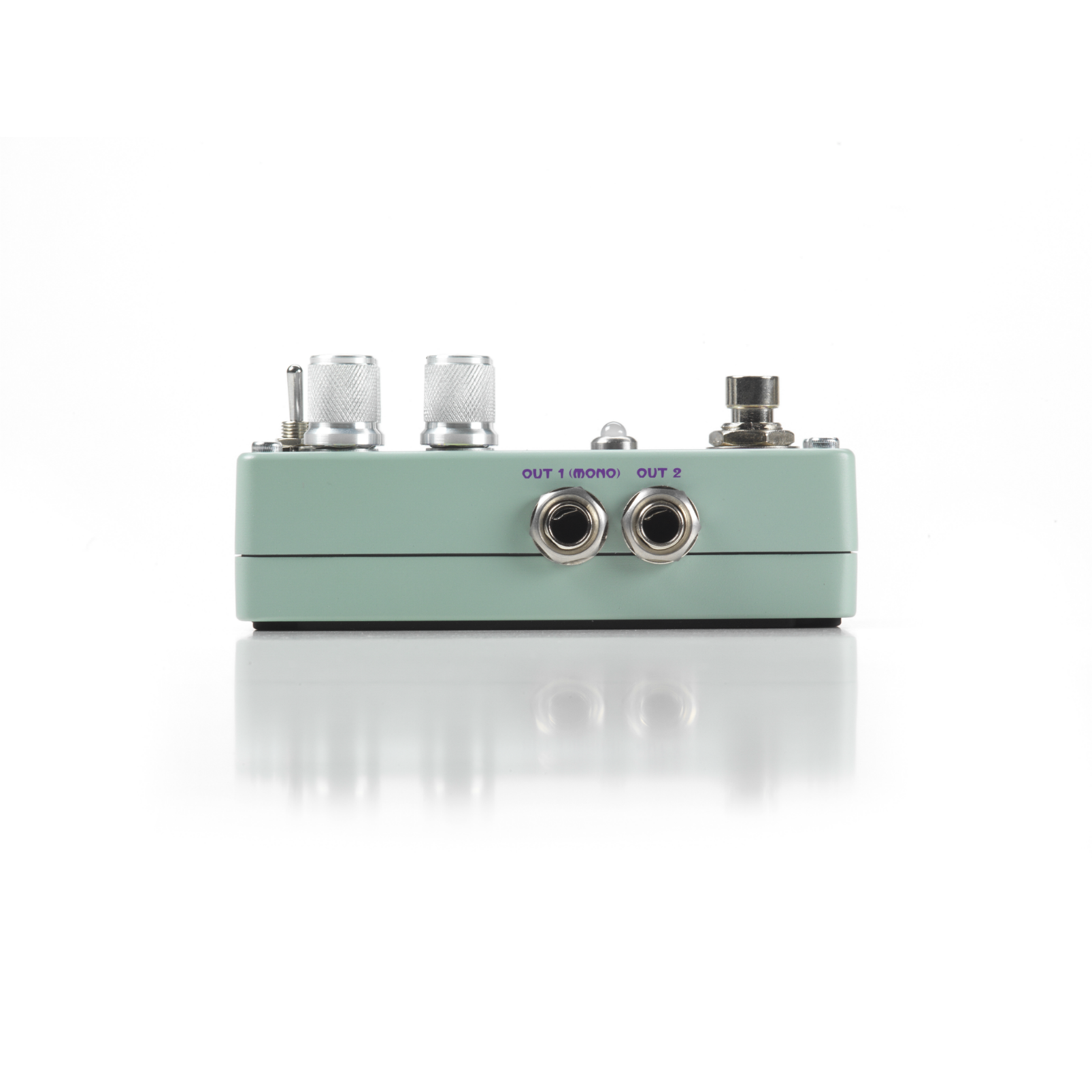 Polara - Green - Reverb Pedal - Left