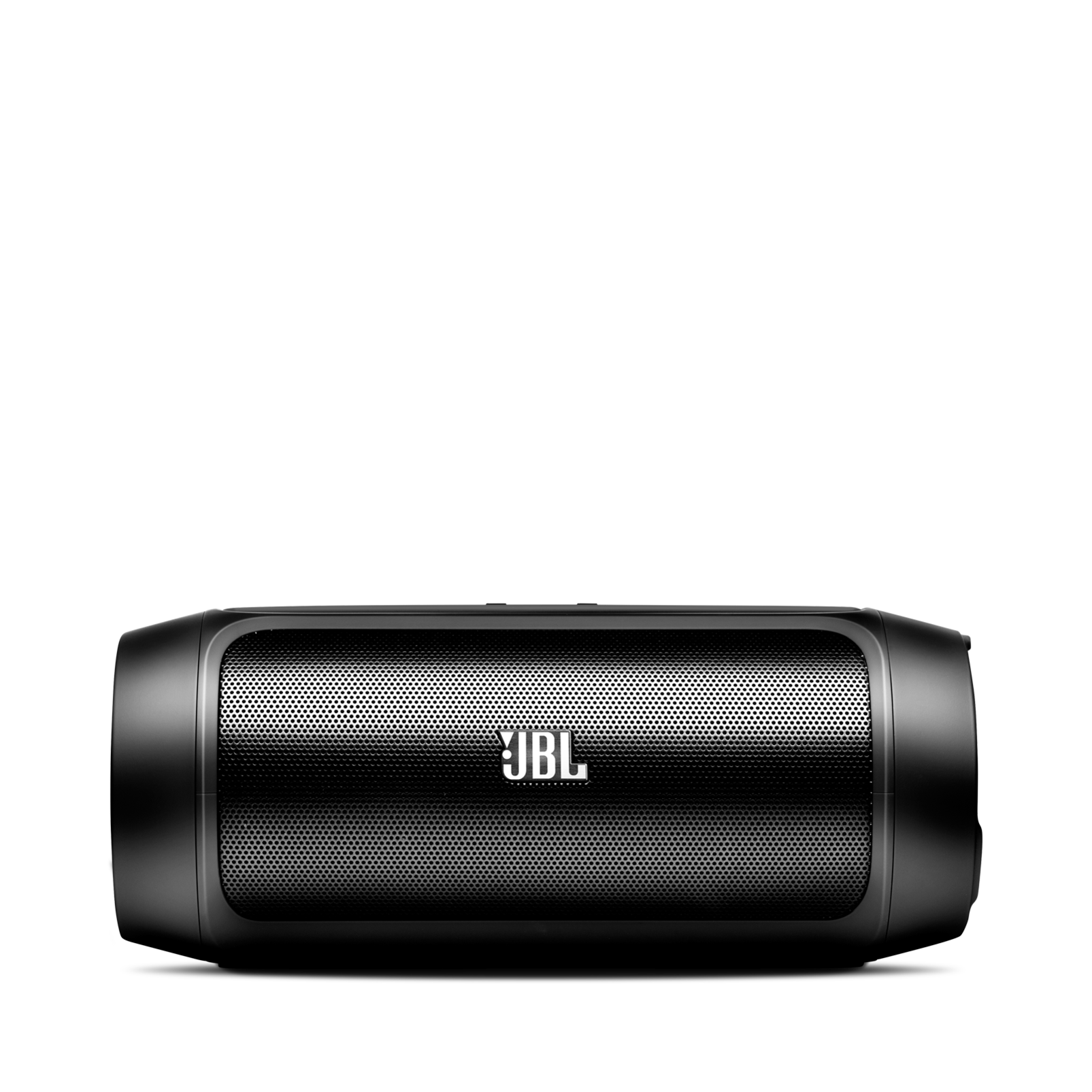 JBL Charge 2 - Black - Portable Bluetooth speaker with massive battery to charge your devices - Front