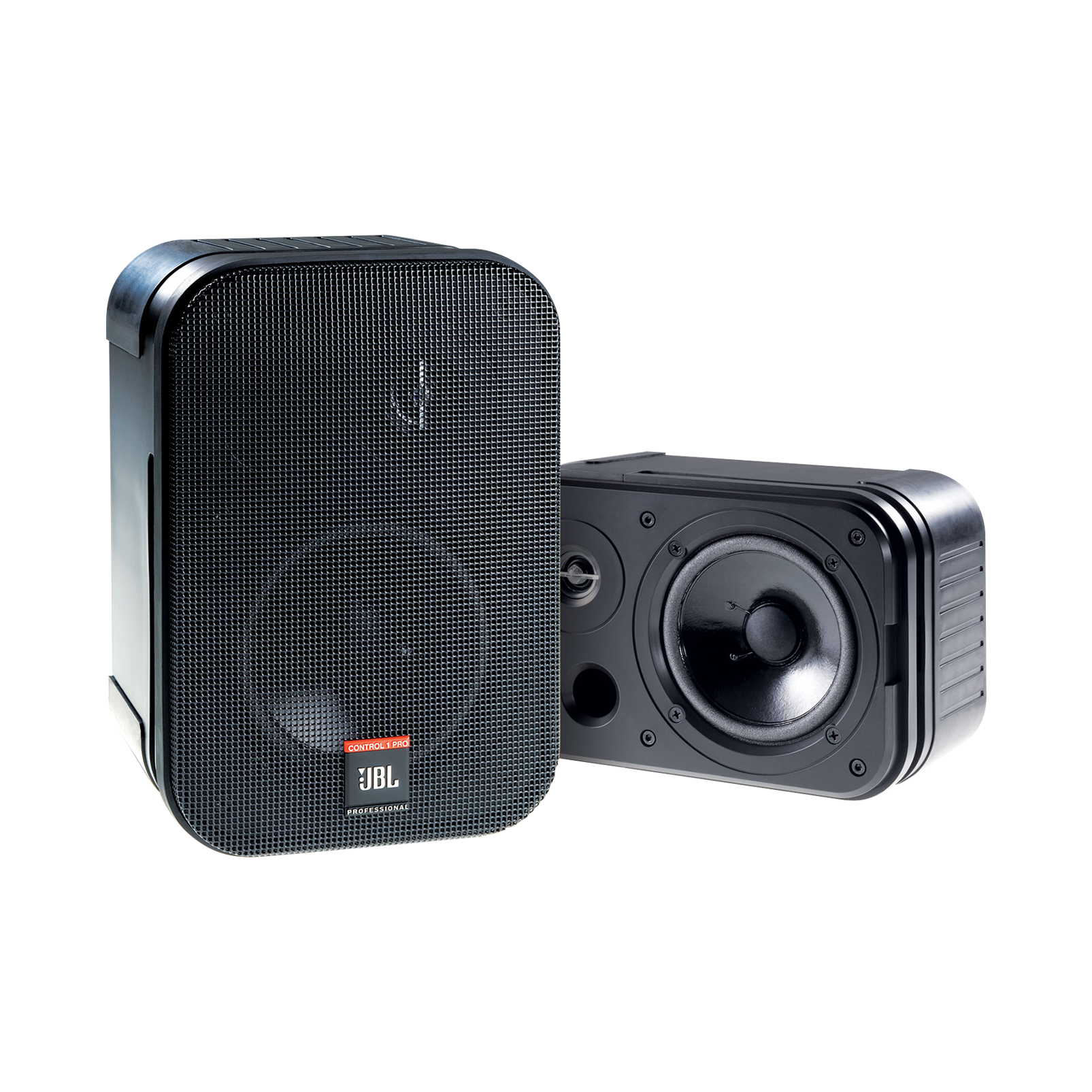 JBL Control 1 Pro (Pair) - Black - Two-Way Professional Compact Loudspeaker System - Hero