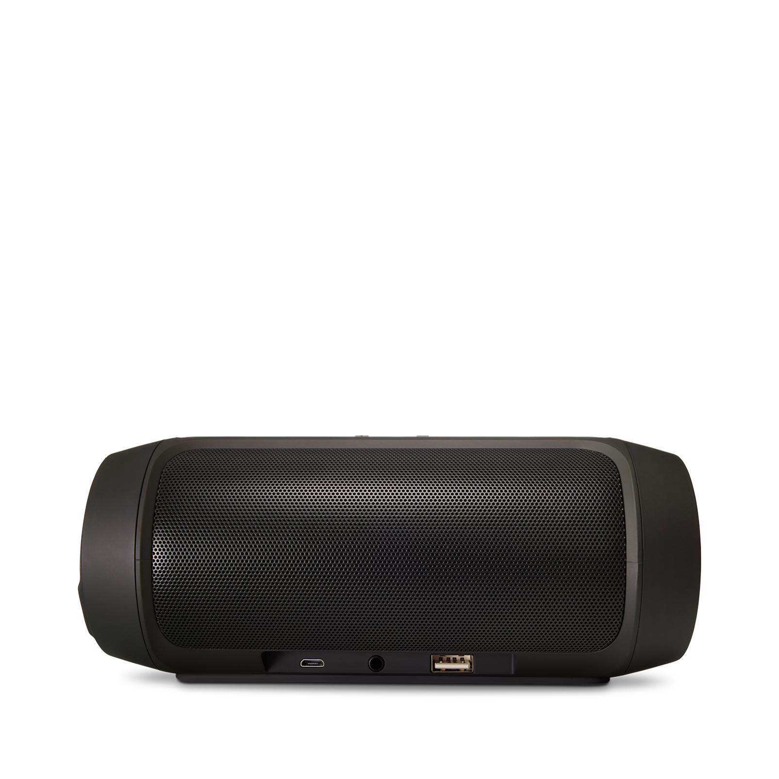 JBL Charge 2+ - Black - Splashproof Bluetooth Speaker with Powerful Bass - Back