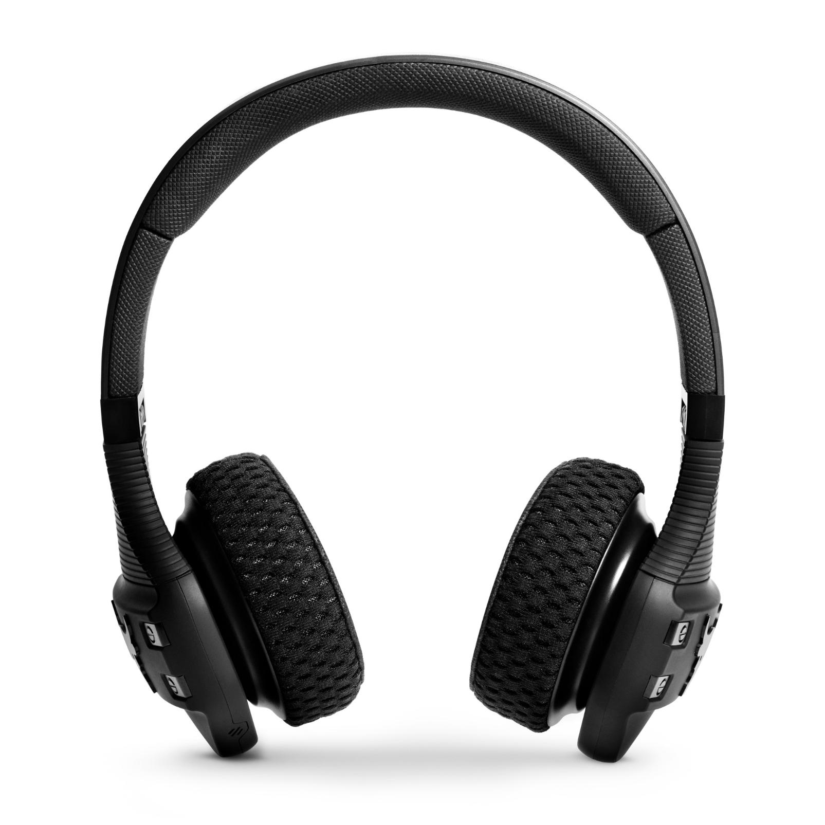 UA Sport Wireless Train Project Rock – Engineered by JBL - Black Matte - On-ear sport Headphones - Front