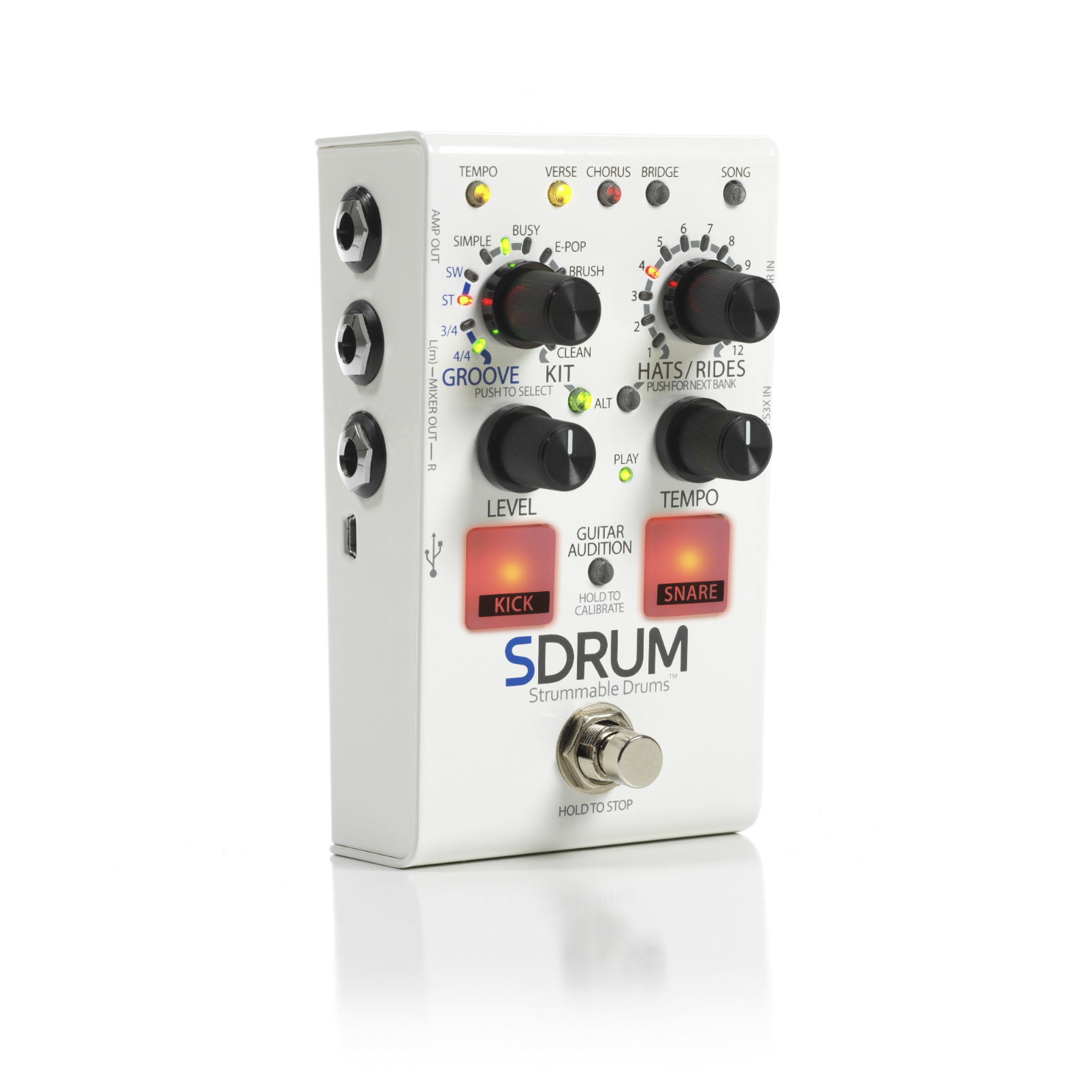 SDRUM - White - Strummable Drums - Hero