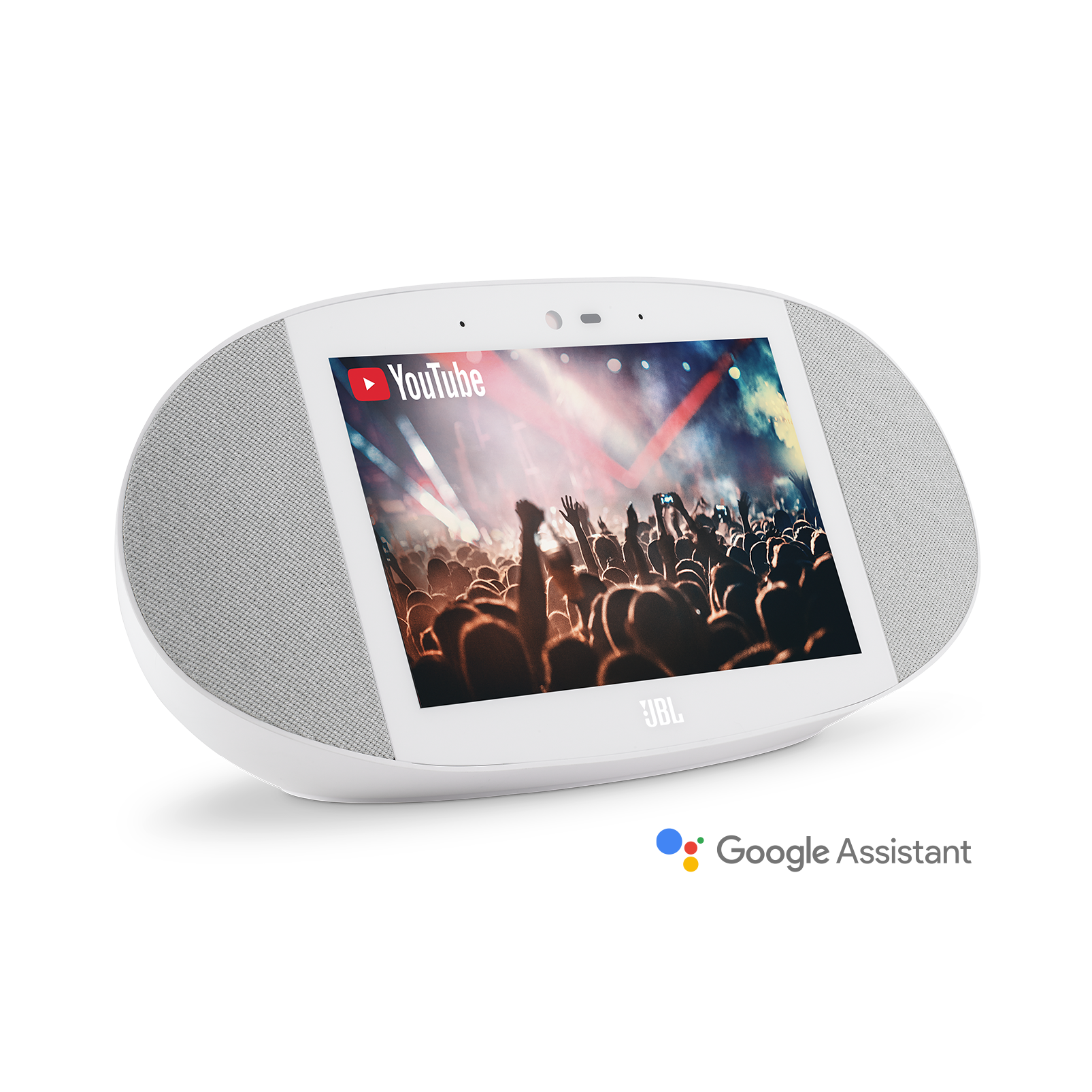 JBL LINK VIEW - White - JBL legendary sound in a Smart Display with the Google Assistant. - Hero