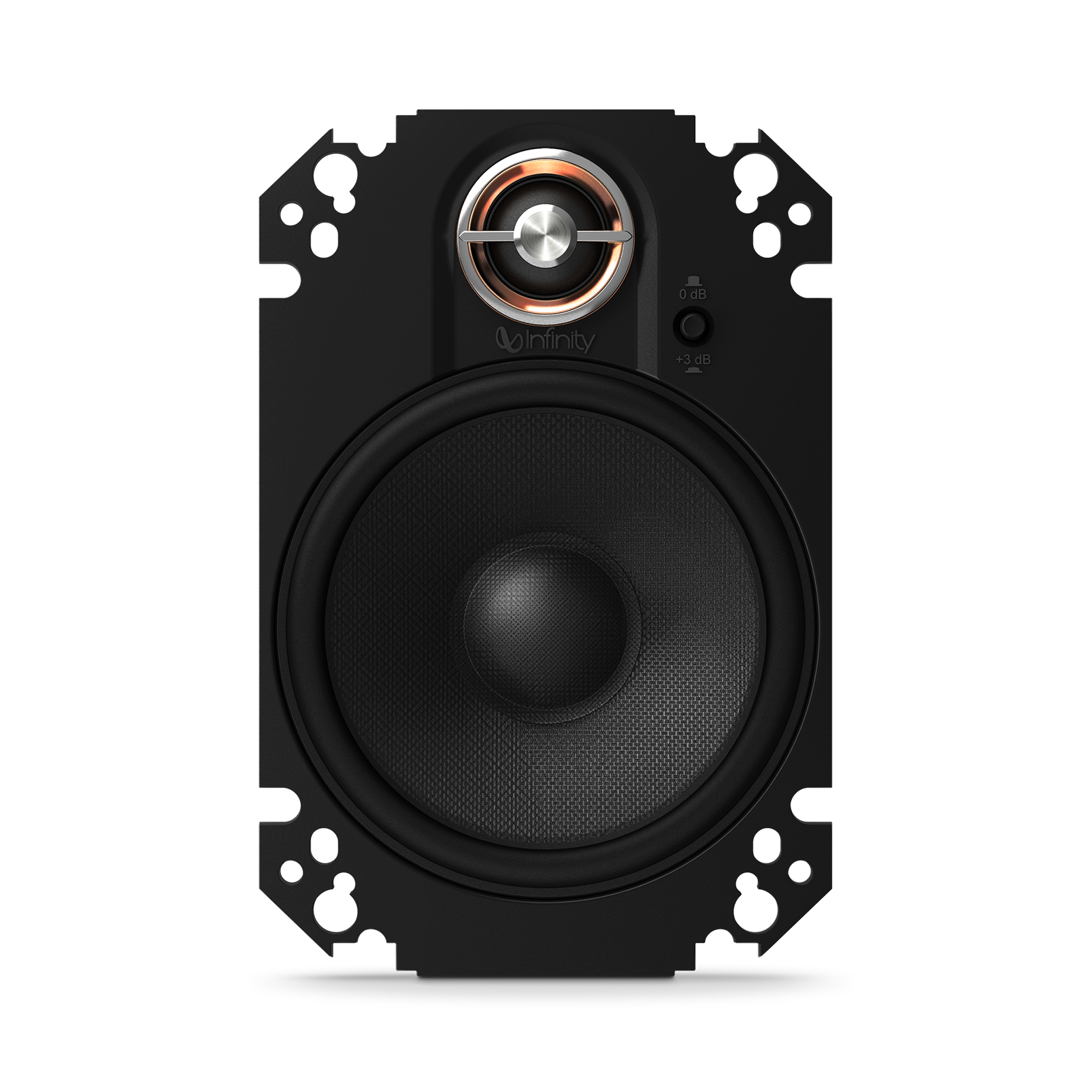 "KAPPA 64CFX - Black - 4"" x 6"" two-way car audio plate multi-element - Front"