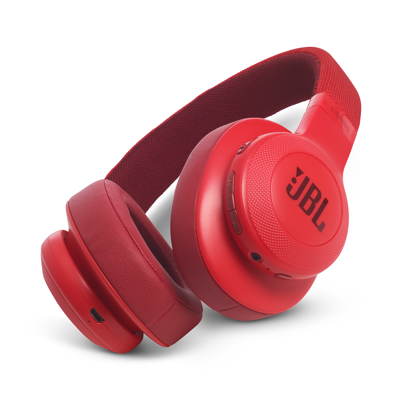 JBL E55BT - Red - Wireless over-ear headphones - Hero
