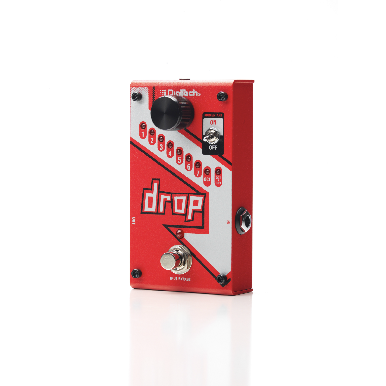 The Drop - Red - Polyphonic Drop Tune Pedal - Detailshot 3
