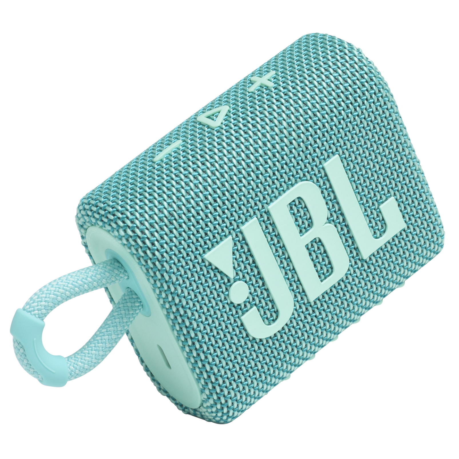 JBL GO 3 - Teal - Portable Waterproof Speaker - Detailshot 1