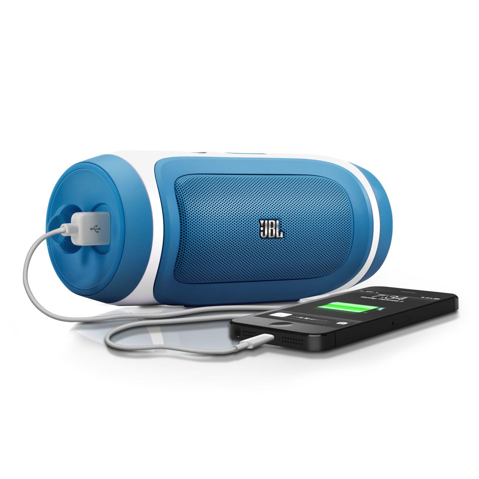 JBL Charge - Blue-Z - Portable Wireless Bluetooth Speaker with USB Charger - Detailshot 1