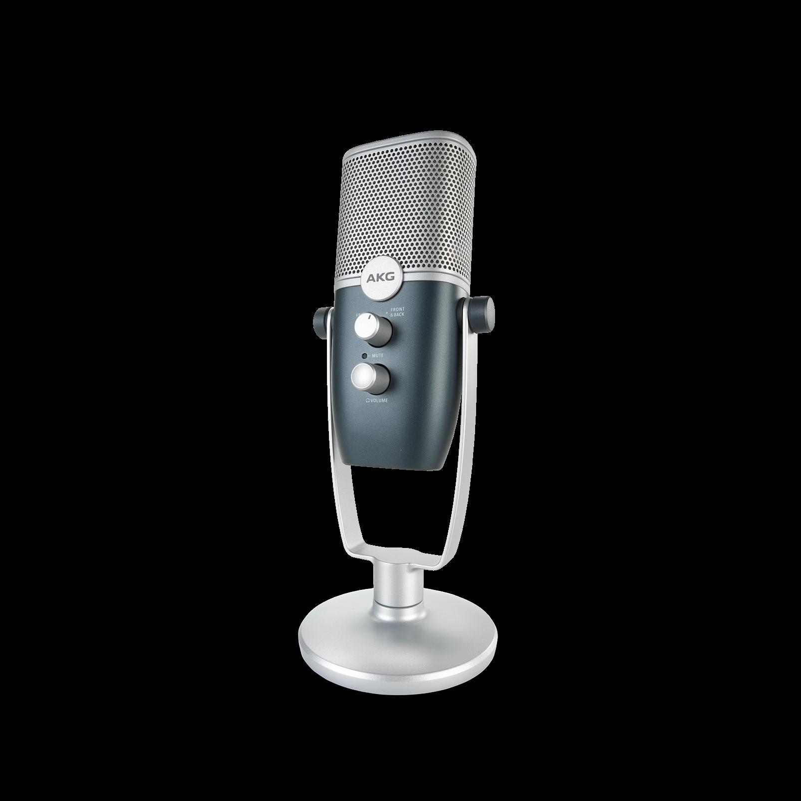 AKG Ara - Blue - Professional Two-Pattern USB Condenser Microphone - Detailshot 6