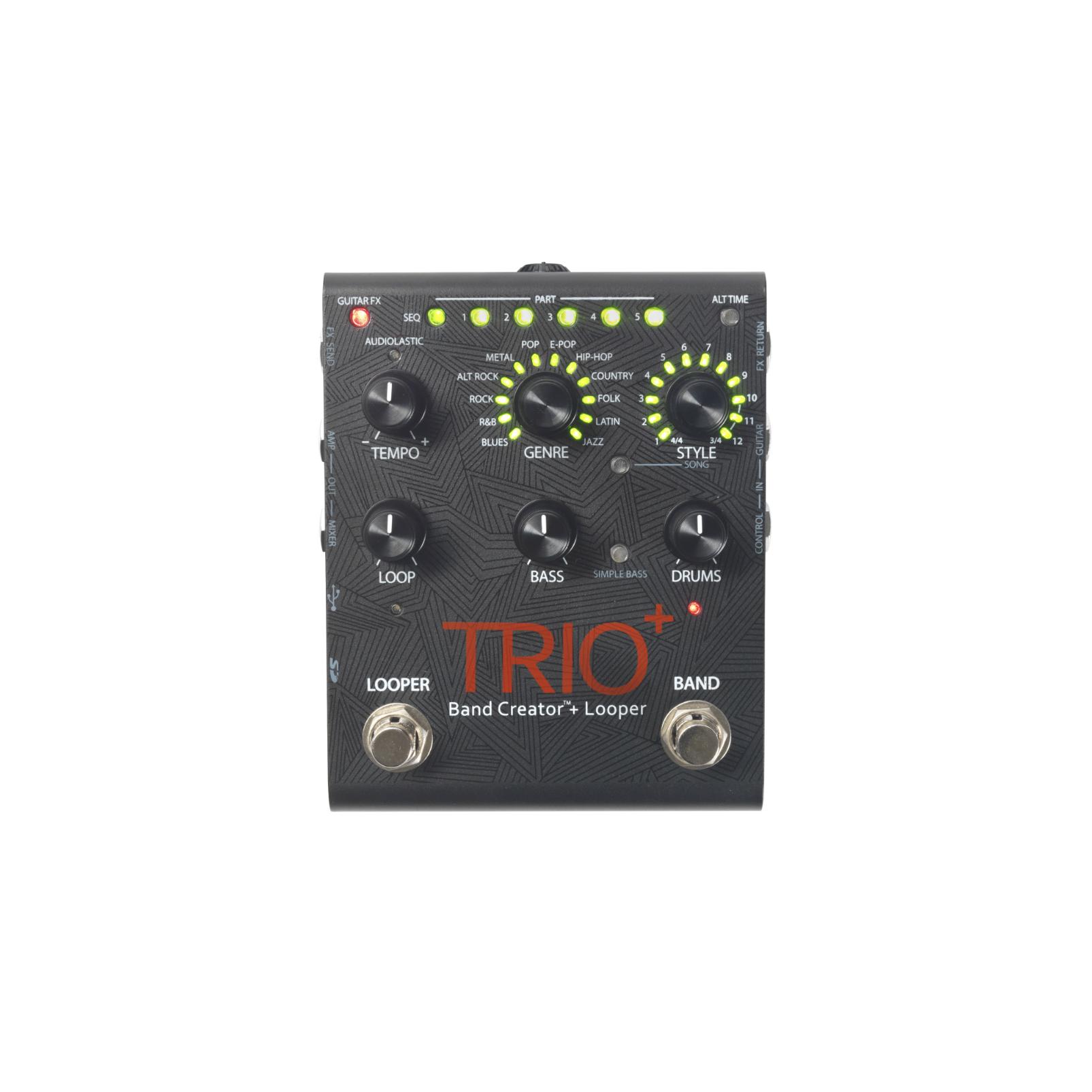 TRIO+ - Black - Band Creator + Looper - Front