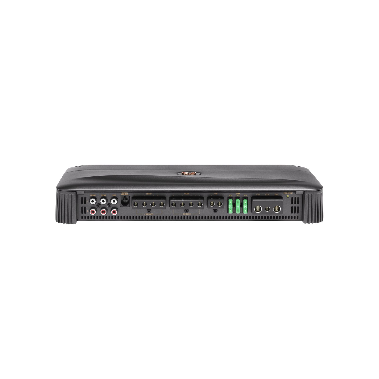 Reference 7005A - Black - High performance 5 channel car amplifier - Front