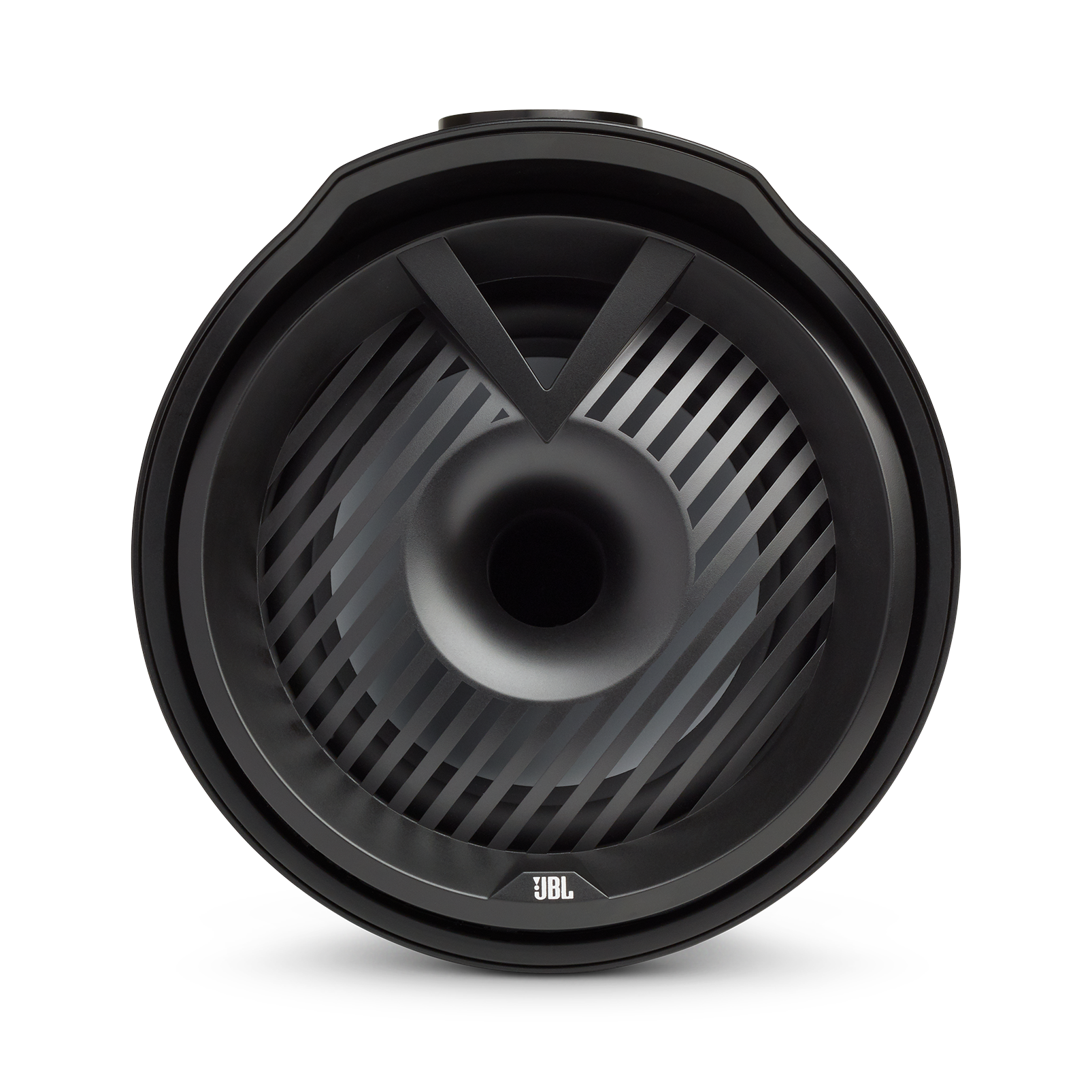 "JBL Tower X Marine MT6HLB - Black Gloss - 6-1/2"" (160mm) enclosed two-way marine audio tower speaker with 1"" (25mm) horn loaded compression tweeter – Black - Front"