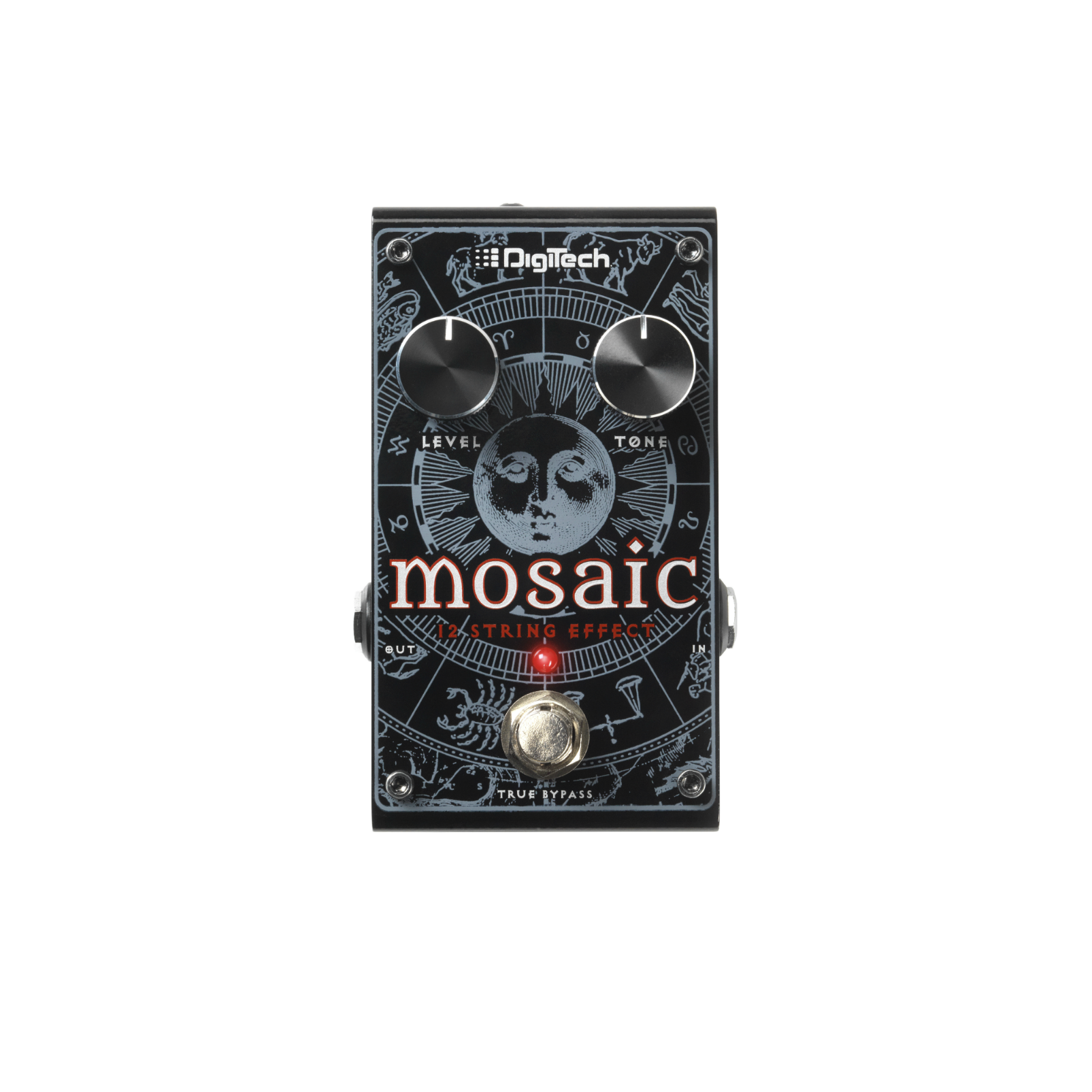 Mosaic - Black - Polyphonic 12-String Effect Pedal - Front