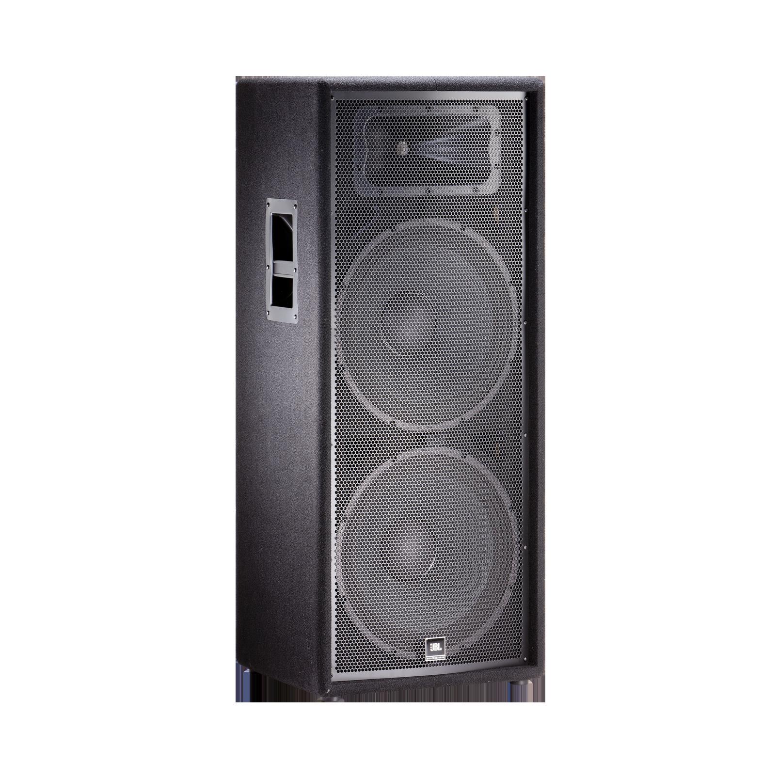 """JBL JRX225 - Black - Dual 15"""" Two-Way Sound Reinforcement Loudspeaker System - Hero"""