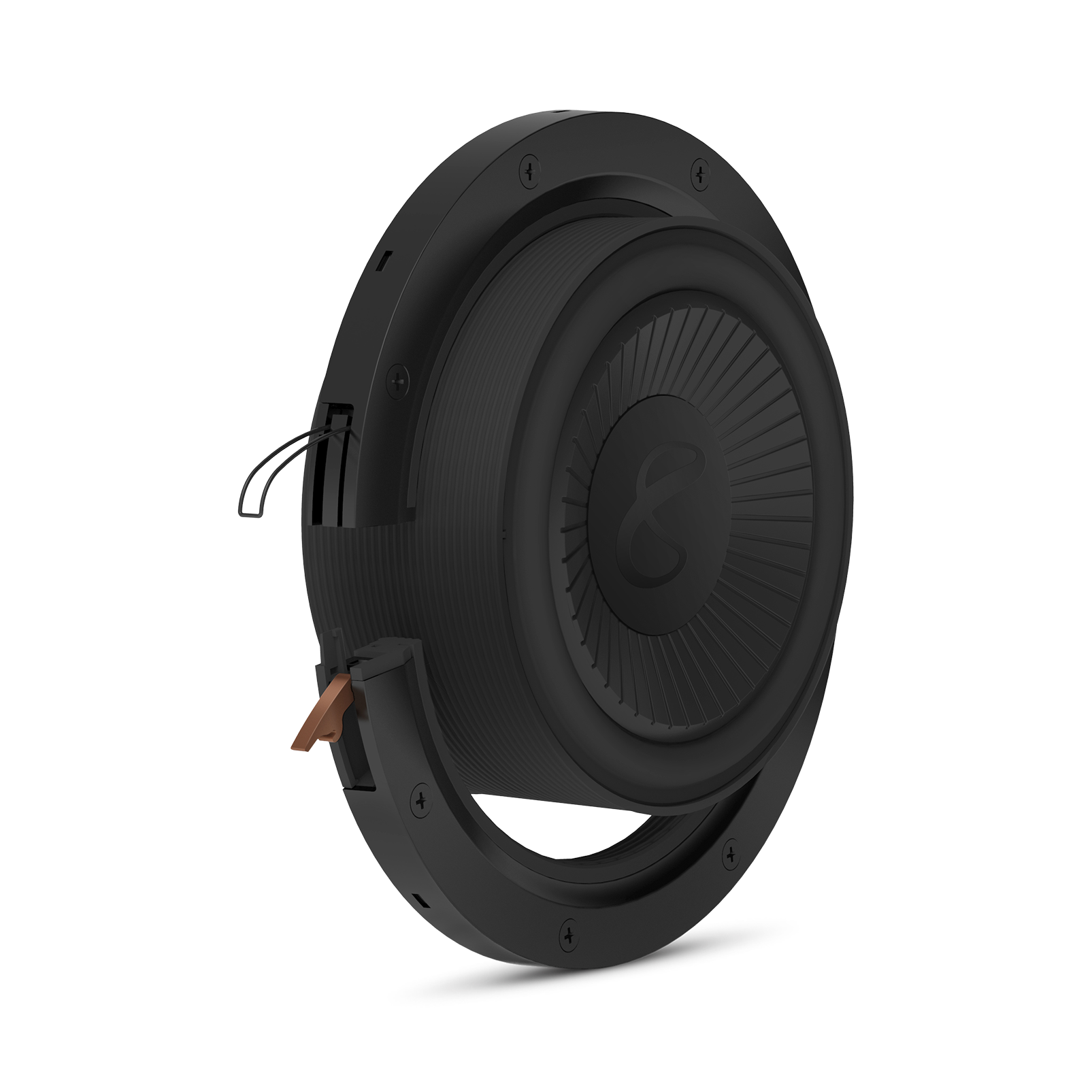 """Reference Flex Woofer 8s - Black - 8"""" (200mm) adjustable depth car audio subwoofers optimized for factory location upgrades - Detailshot 1"""