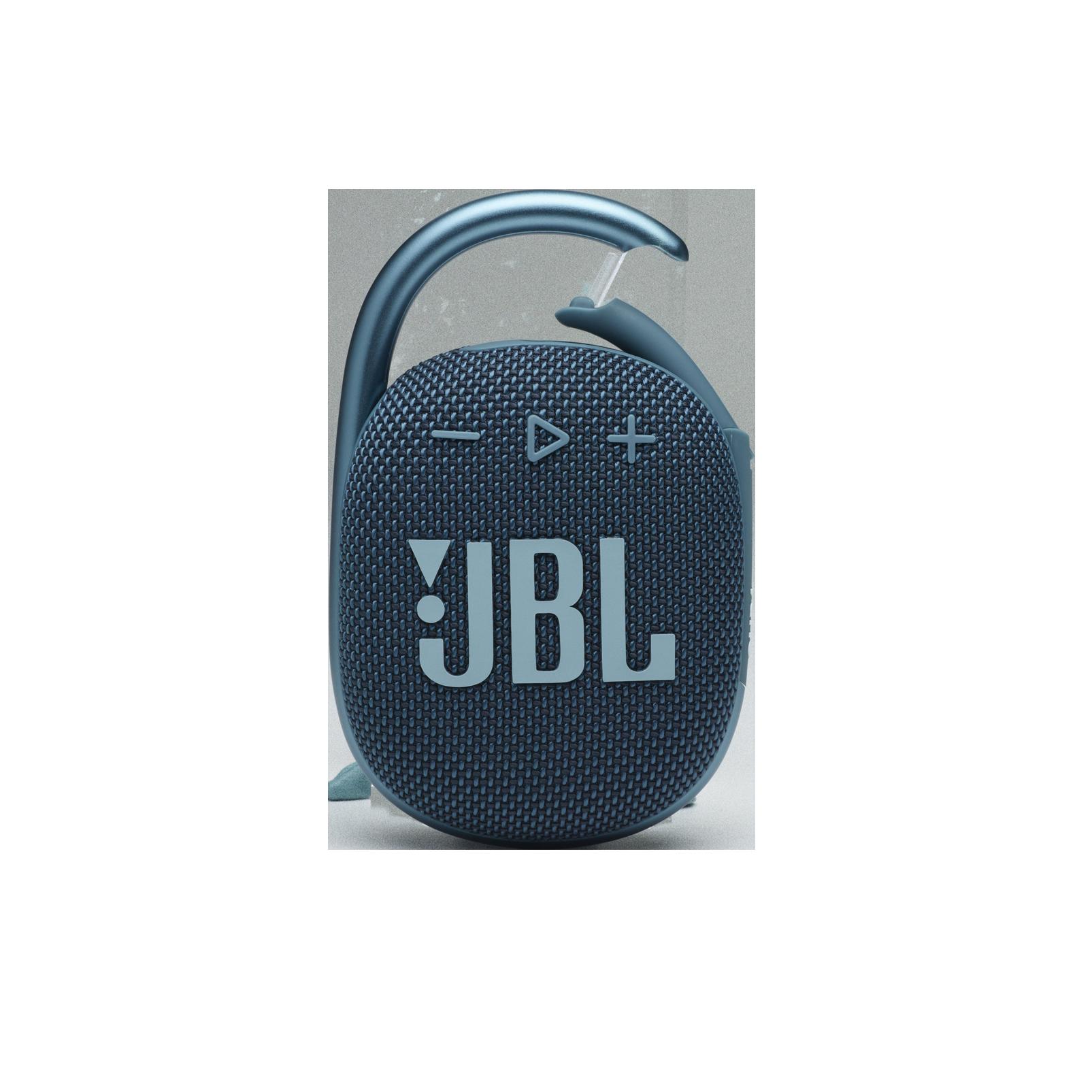 JBL CLIP 4 - Blue - Ultra-portable Waterproof Speaker - Front