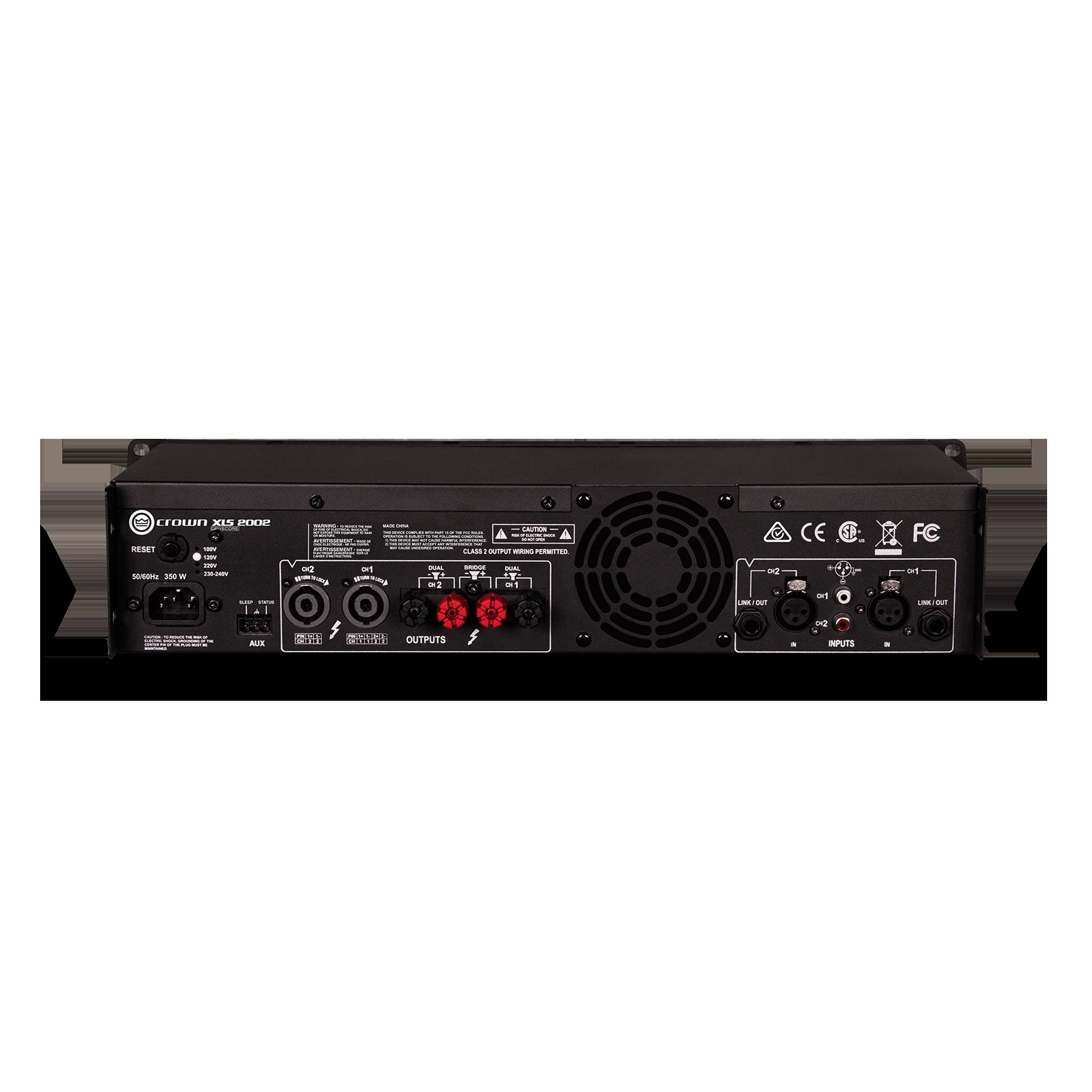 XLS 2002 - Black - Two-channel, 650W @ 4Ω power amplifier - Back