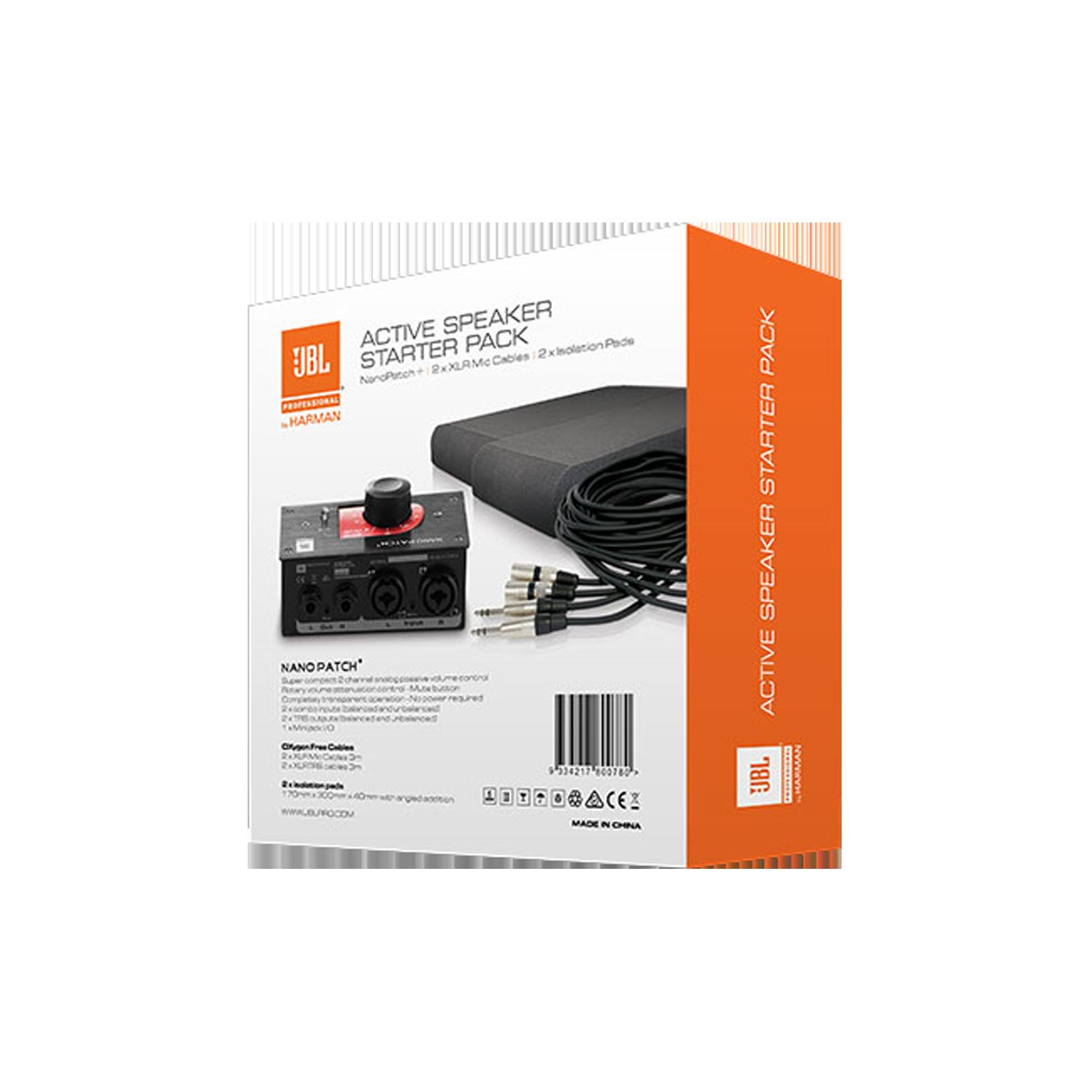 JBL Active Speaker Starter Set - Black - Studio Monitor Enhancement Pack - Back