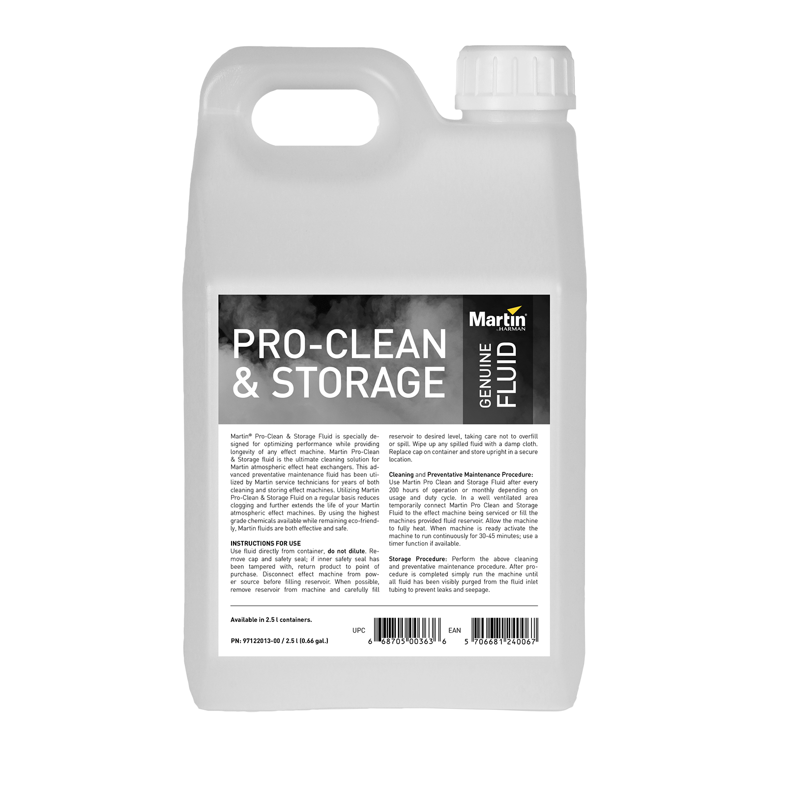 Martin Pro-Clean and Storage Fluid - 4 x 2.5L
