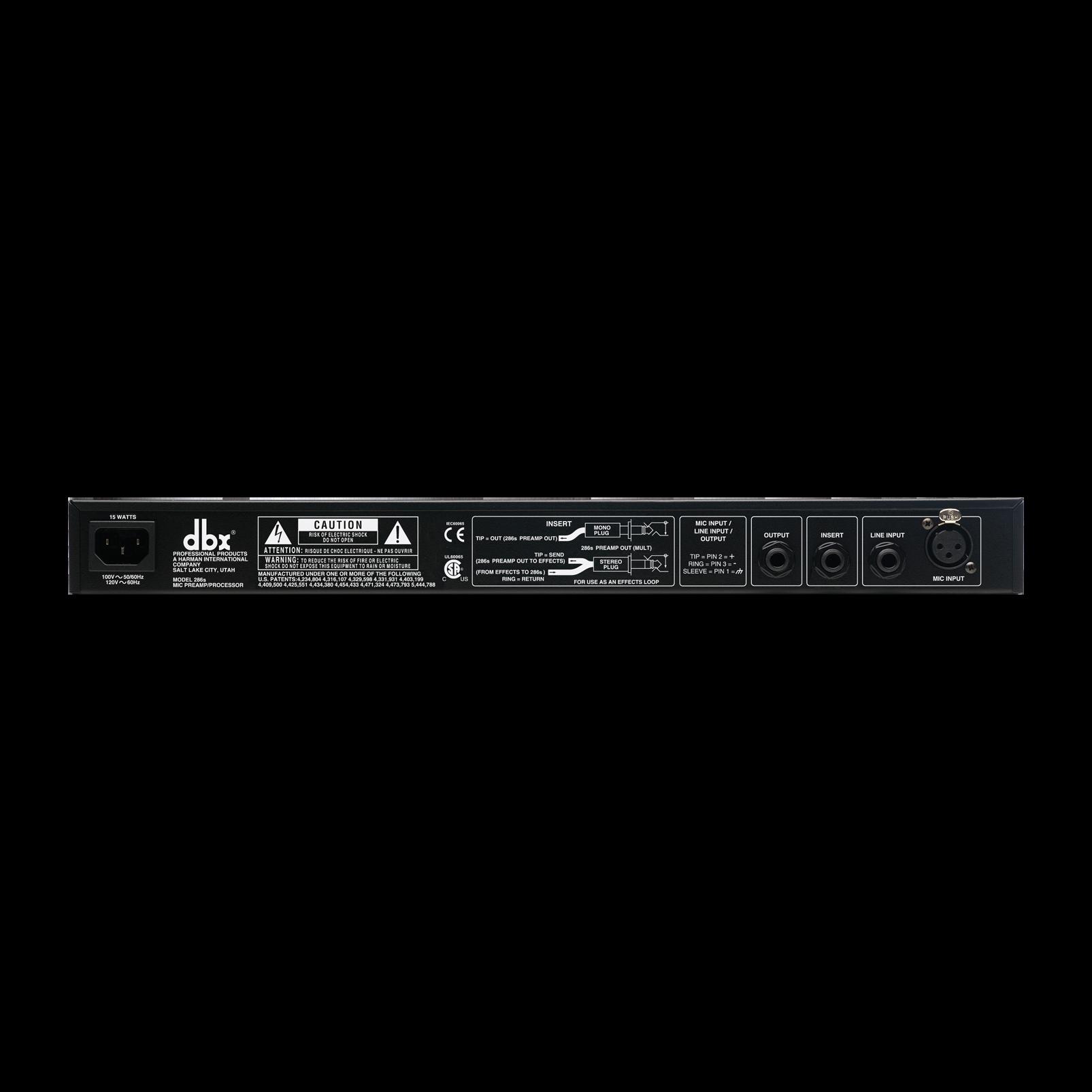 286s - White - Microphone Pre-amp Processor - Back