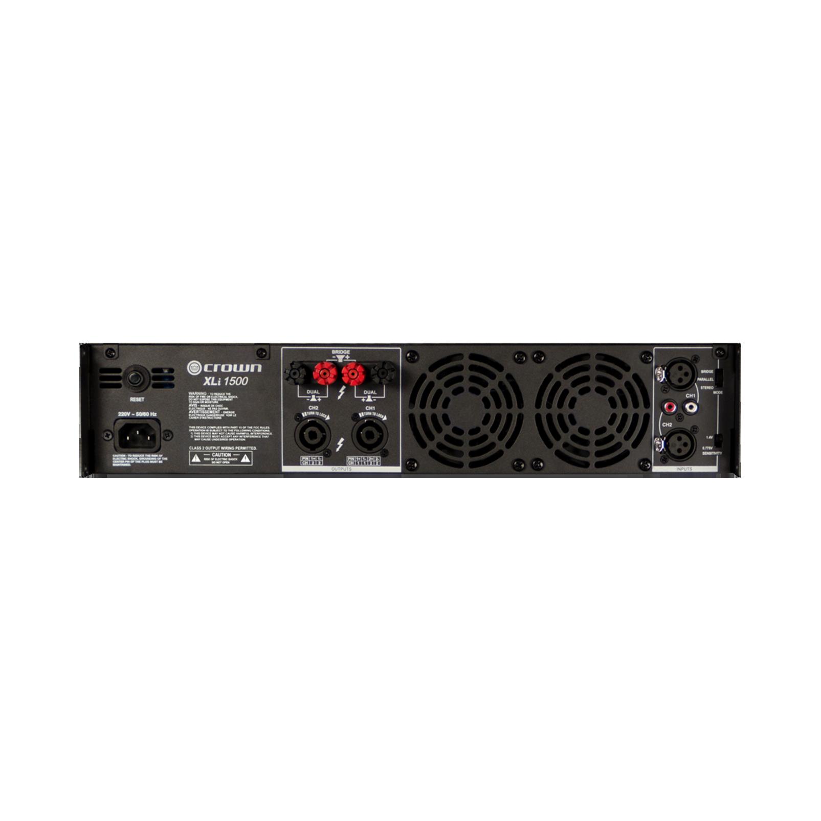 XLi 1500 - Grey - Two-channel, 450W @ 4Ω power amplifier - Back
