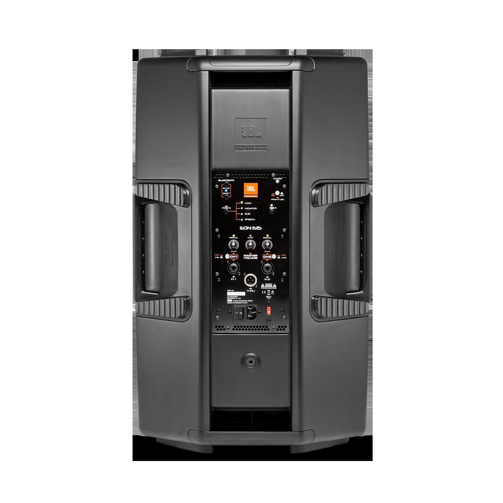 "JBL EON615 - Black - 15"" (38 cm) Two-Way Multipurpose Self-Powered Sound Reinforcement - Back"