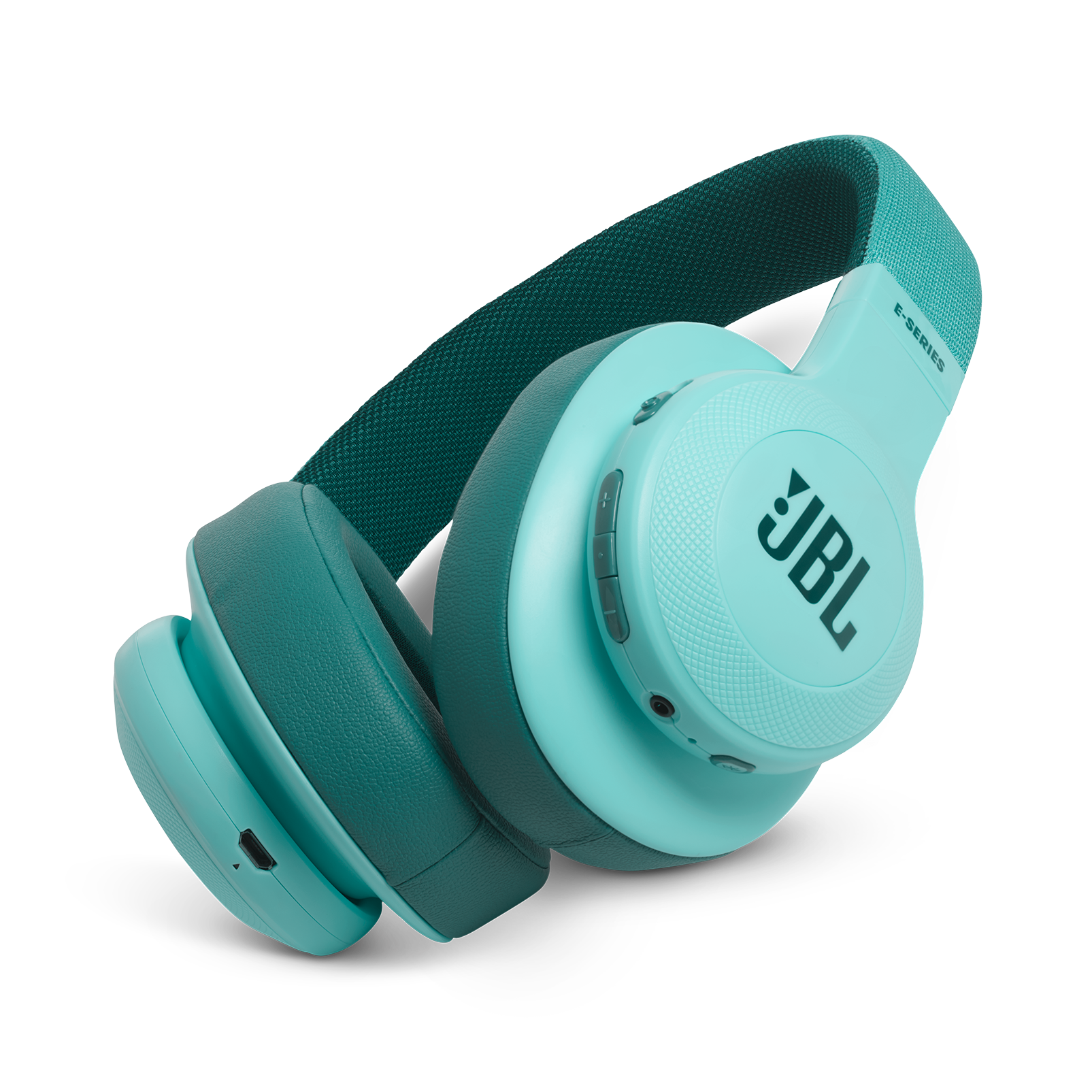 JBL E55BT - Teal - Wireless over-ear headphones - Hero