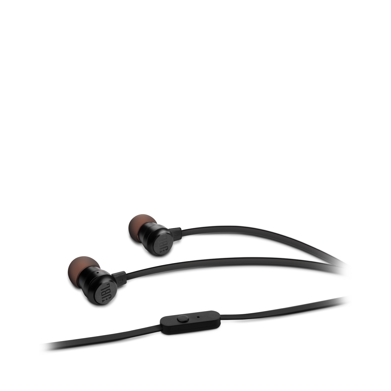 JBL T280A - Black - In-ear headphones with high performance drivers - Hero