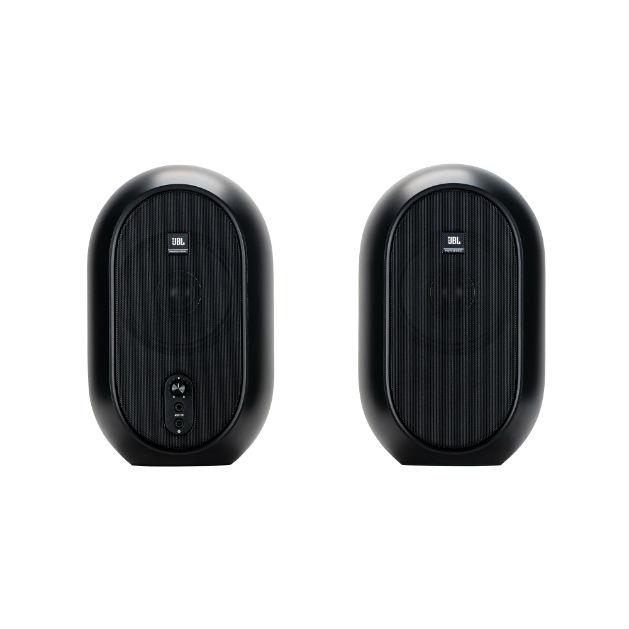 JBL 104 (Pair) (B-Stock) - Black - Compact Powered Desktop Reference Monitors - Detailshot 15