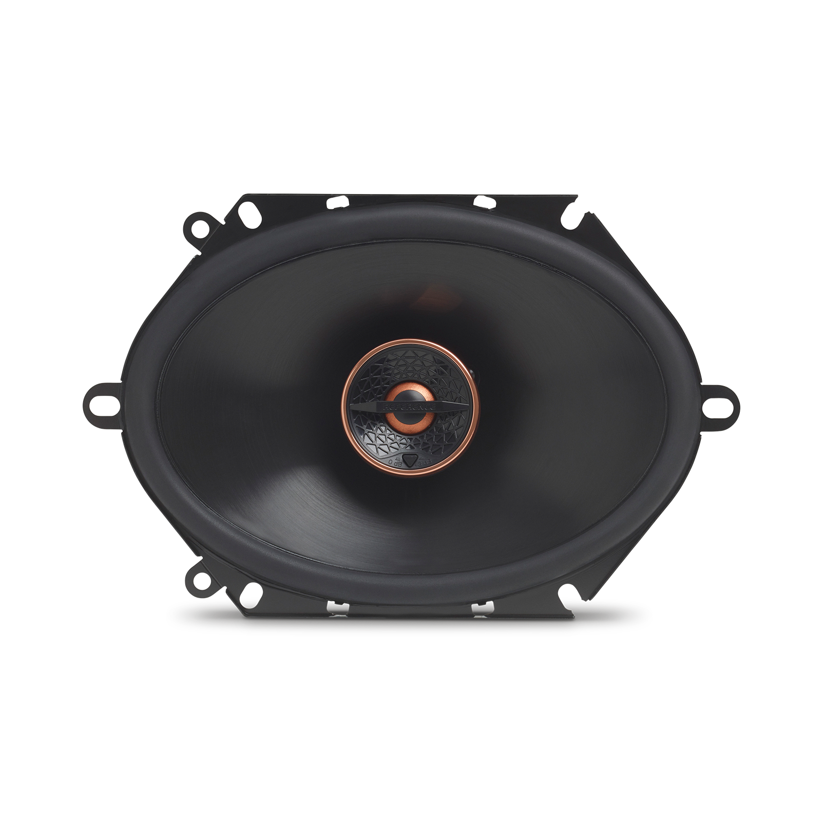 "Reference 8632cfx - Black - 6"" x 8"" (152mm x 203mm) coaxial car speaker, 180W - Front"