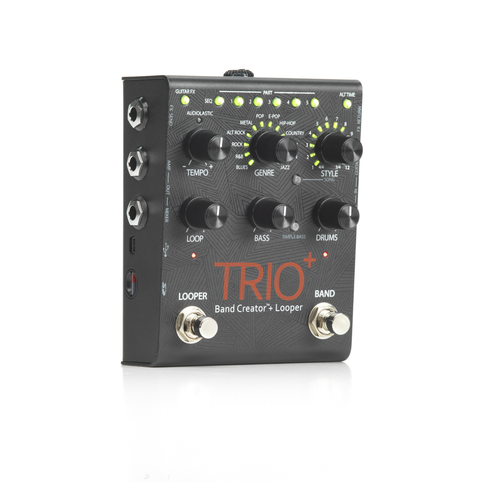 TRIO+ - Black - Band Creator + Looper - Hero