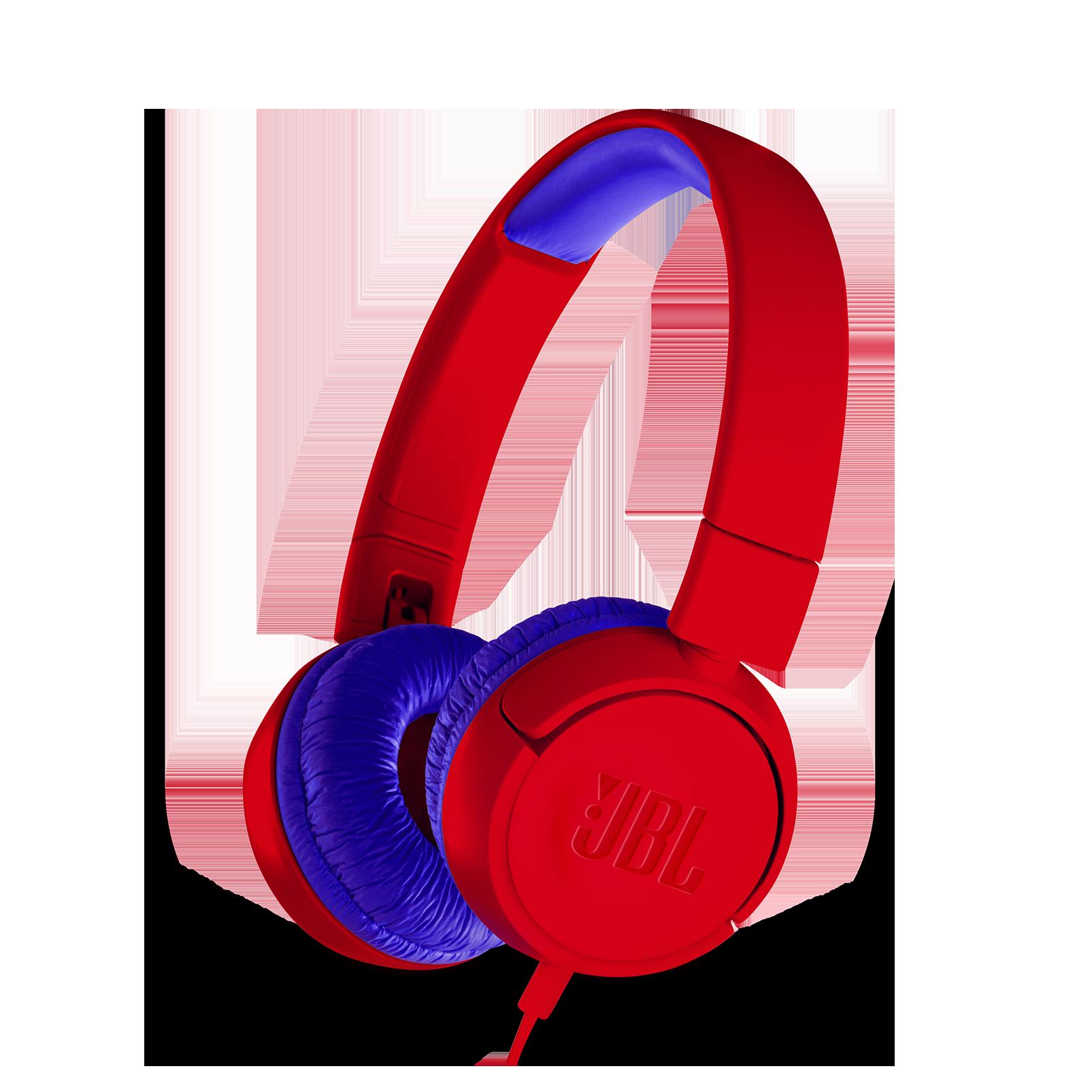 JBL JR300 - Red - Kids on-ear Headphones - Hero