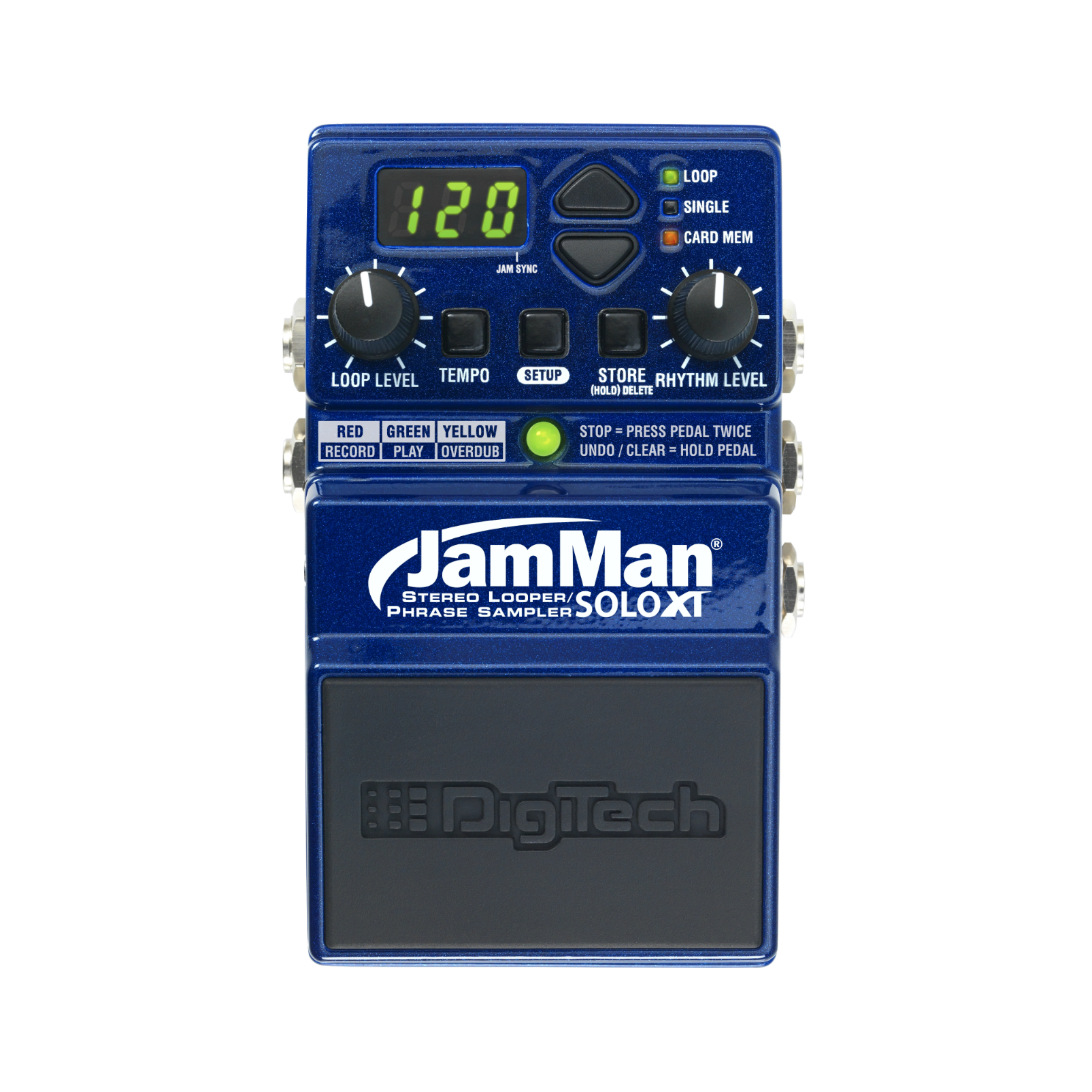 JamMan Solo XT - Blue - Stereo Looping in a Compact Pedal with JamSync - Front