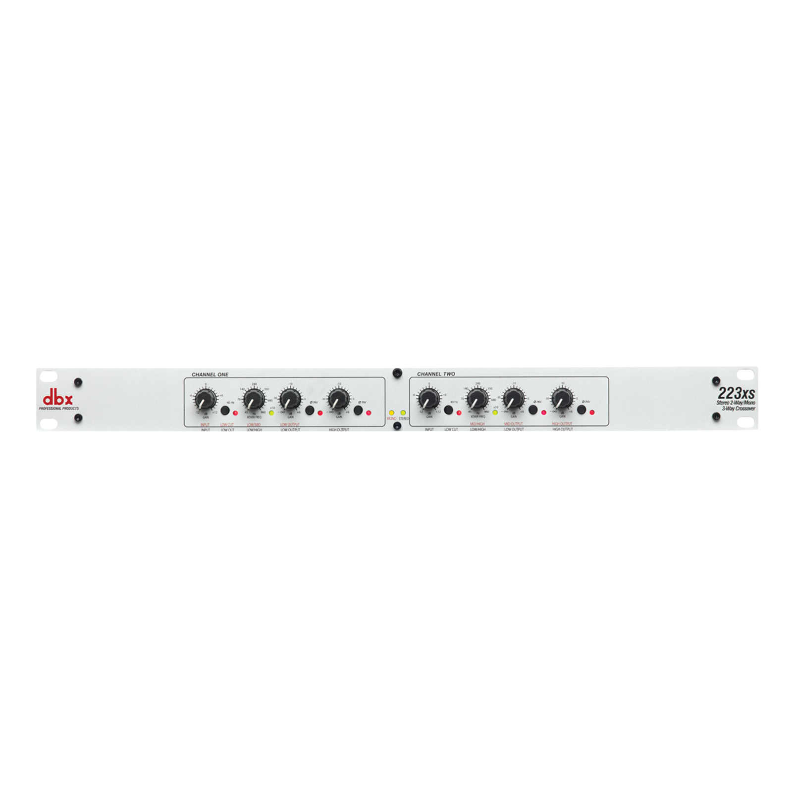 223xs - White - The dbx 223xs is a dual channel crossover with all the features you would expect from a professional product. - Hero