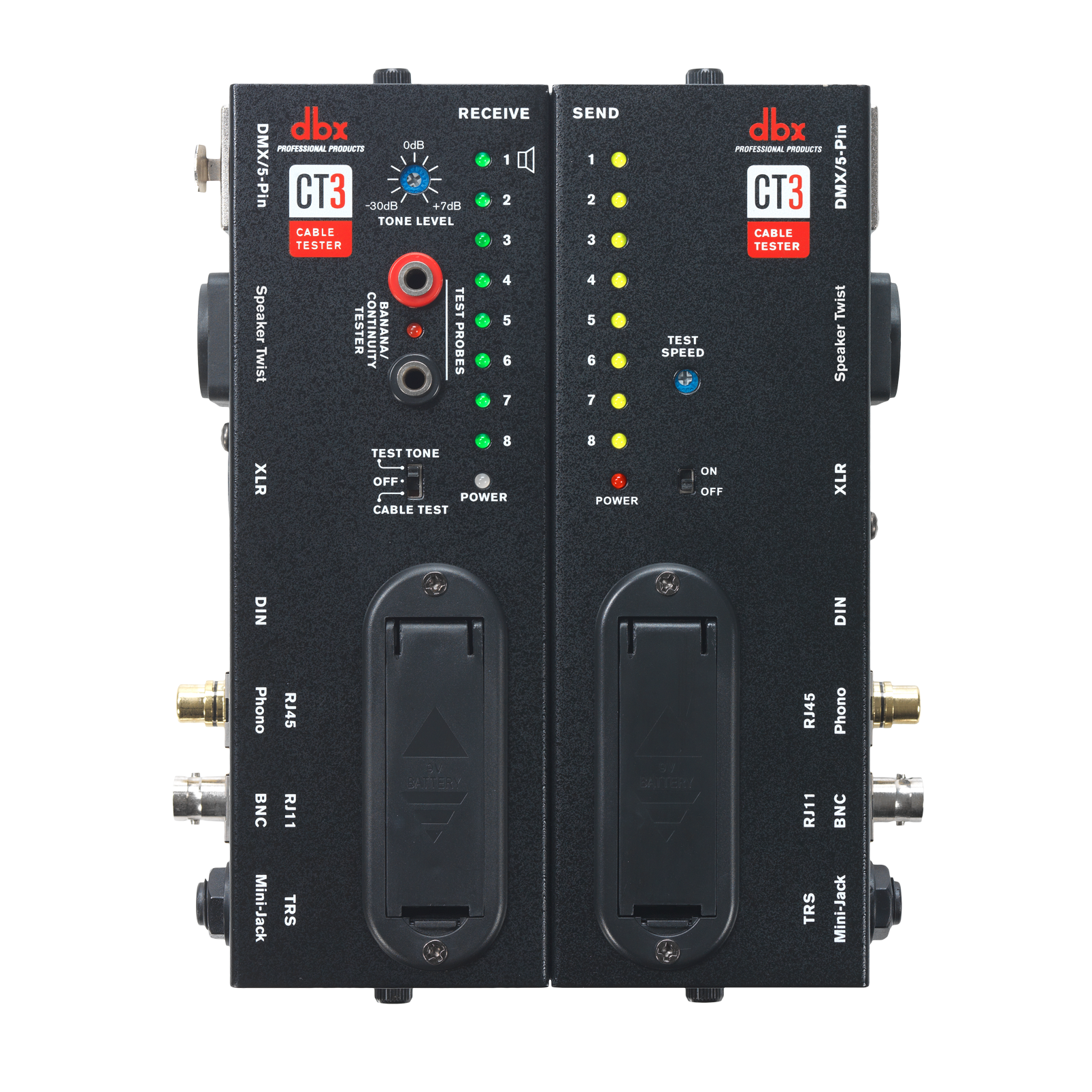CT3 - Black - Advanced Cable Tester - Front