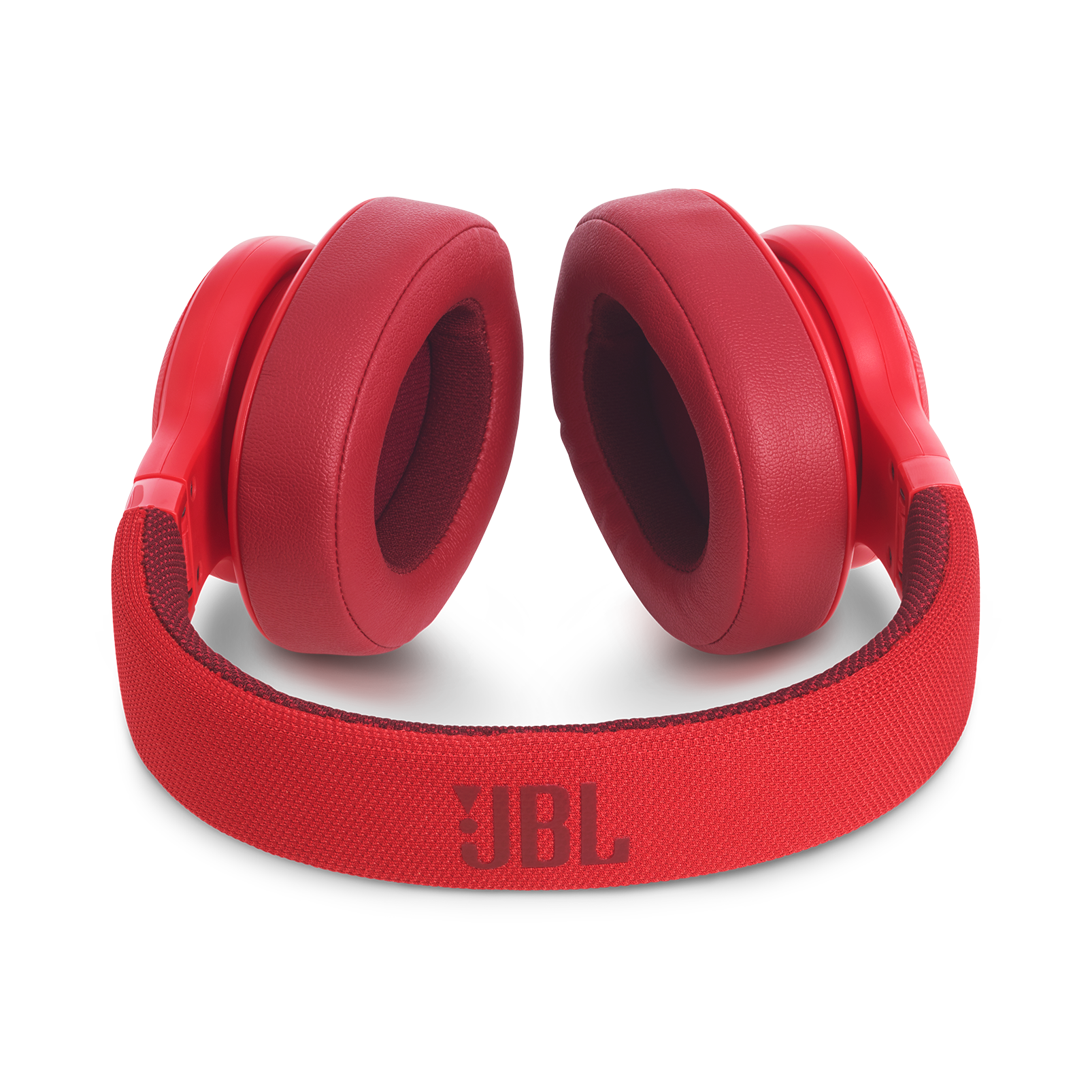 JBL E55BT - Red - Wireless over-ear headphones - Detailshot 3