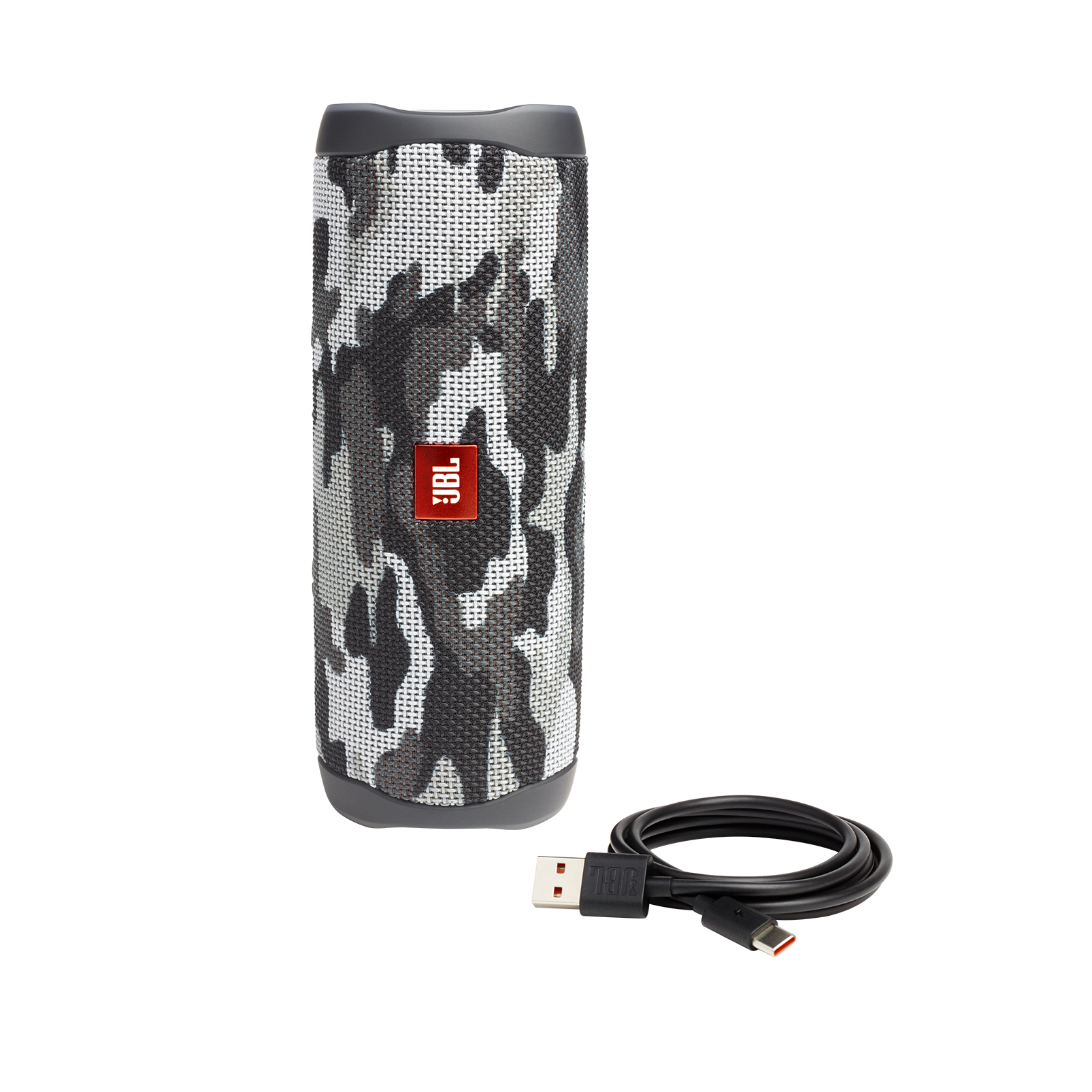 JBL FLIP 5 - Black Camo - Portable Waterproof Speaker - Detailshot 1