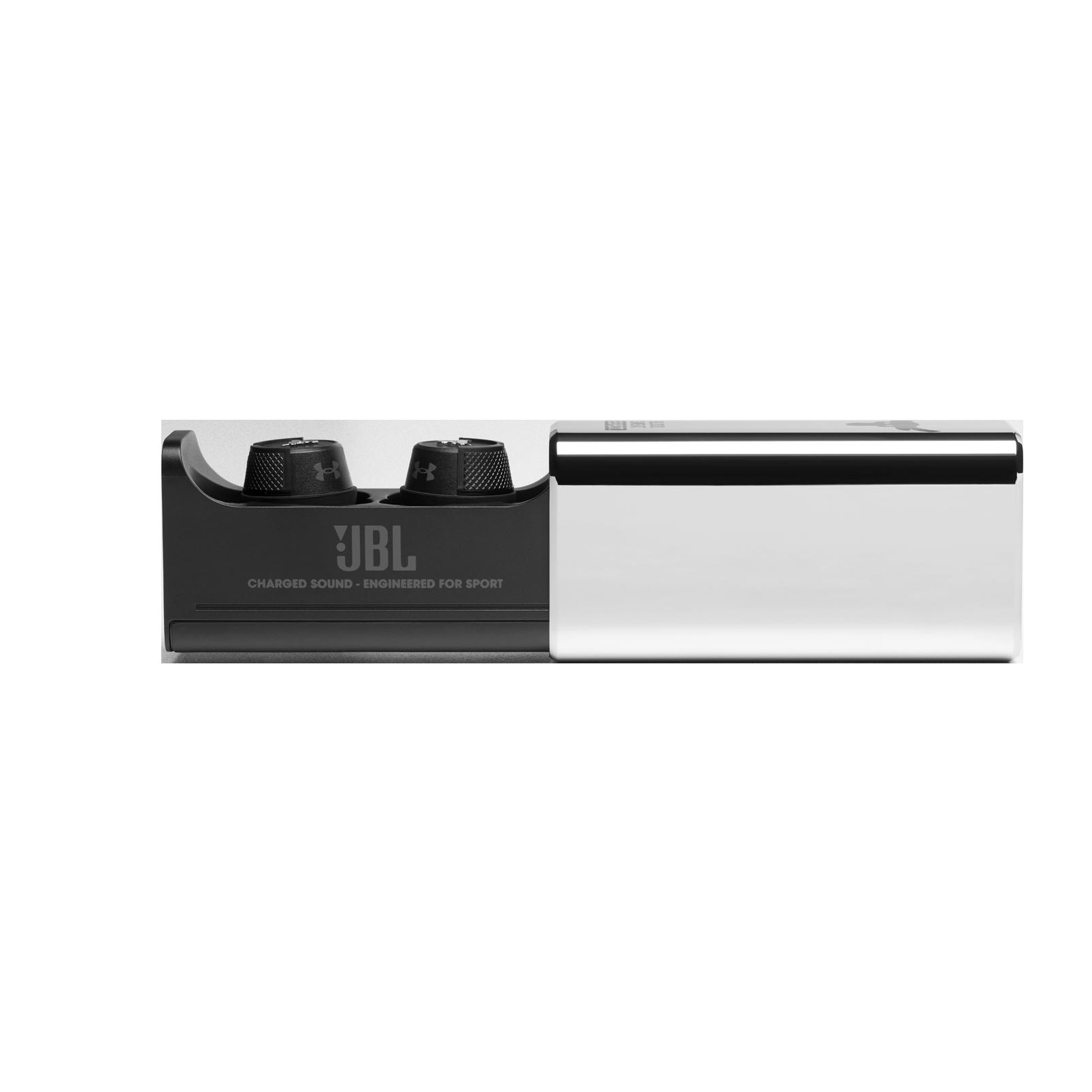 UA Project Rock True Wireless X - Engineered by JBL - Black - In-Ear Sport Headphones - Detailshot 7