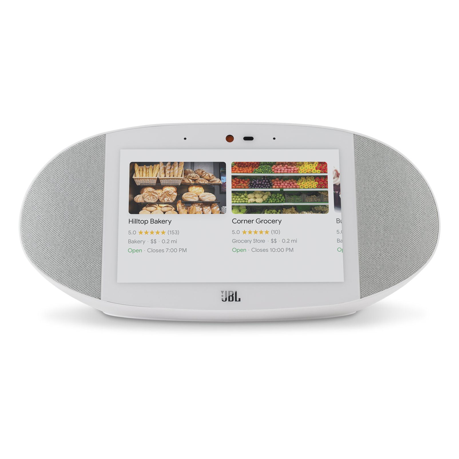 JBL LINK VIEW - White - JBL legendary sound in a Smart Display with the Google Assistant. - Front