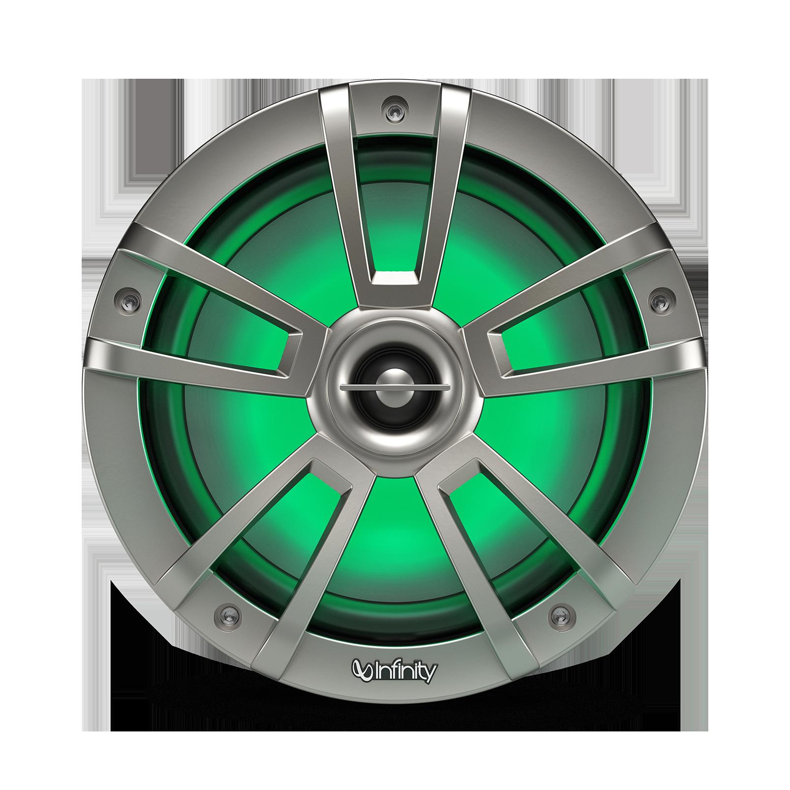 "Reference 822MLT - Graphite - Reference 822MLT—8"" (200mm) two-way marine audio multi-element speaker – titanium - Detailshot 1"