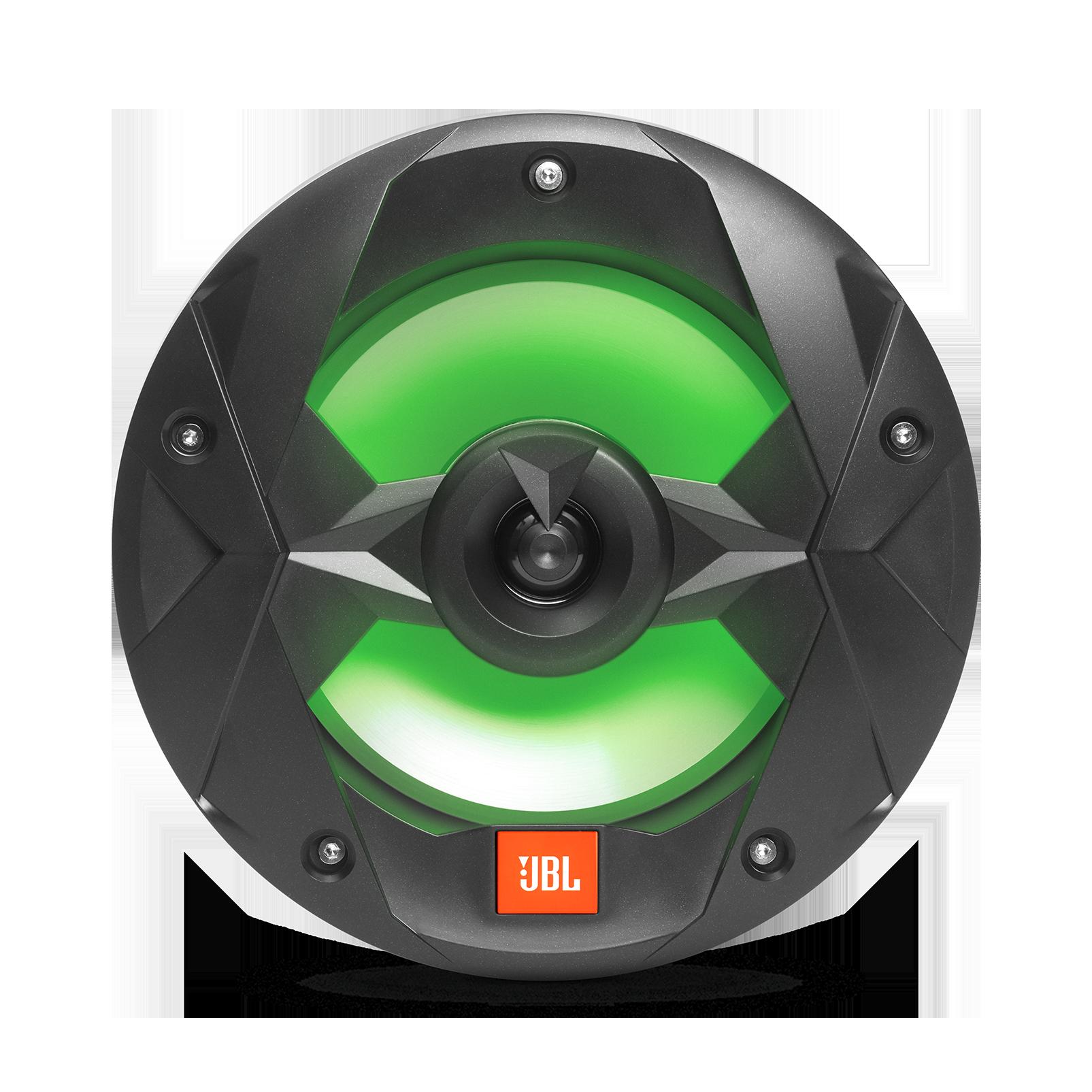 "Club Marine MS8LB - Black Matte - Club Marine MS8LB—8"" (200mm) two-way marine audio multi-element speaker with RGB lighting – Black - Detailshot 2"