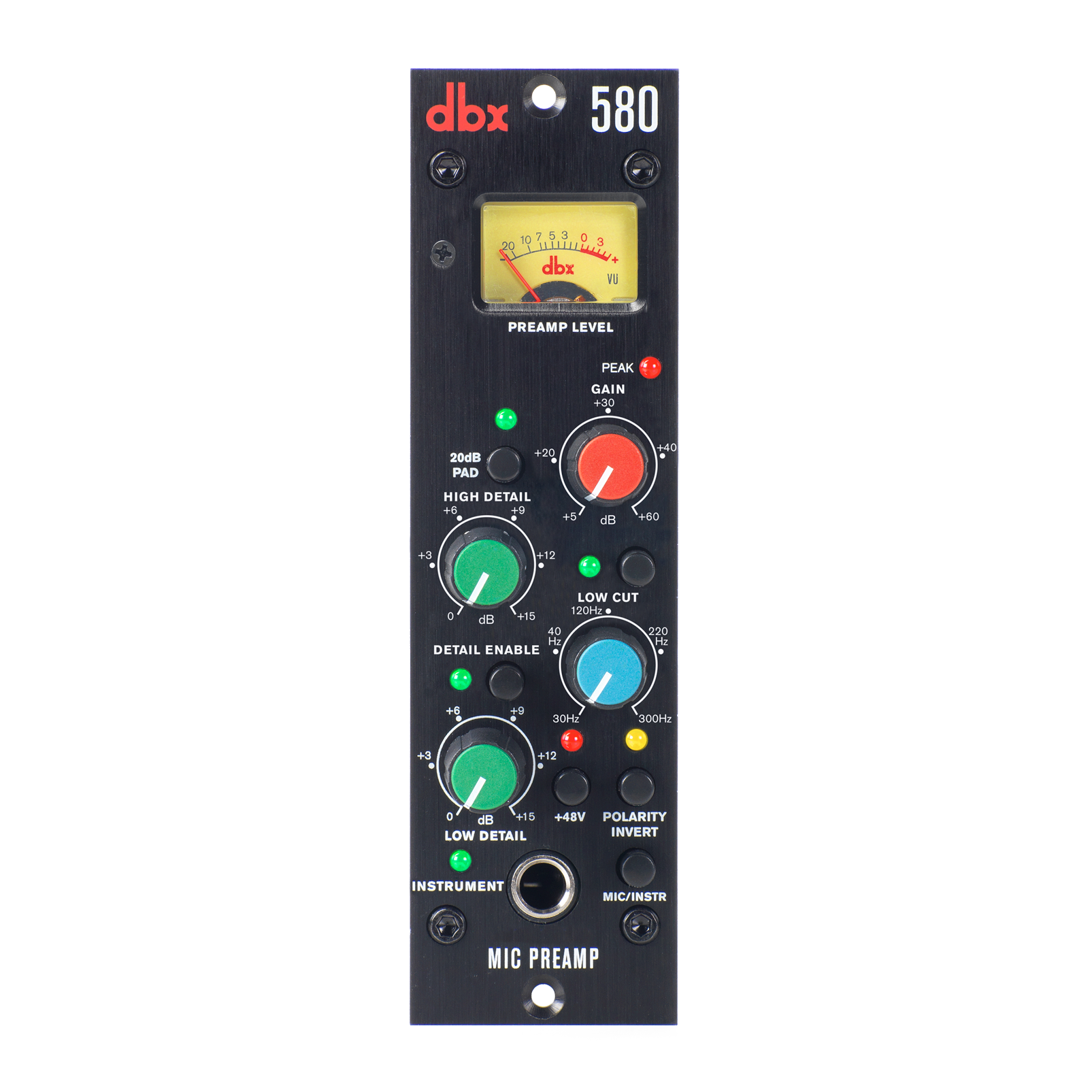 580 - Black - Mic Preamp - 500 Series - Hero
