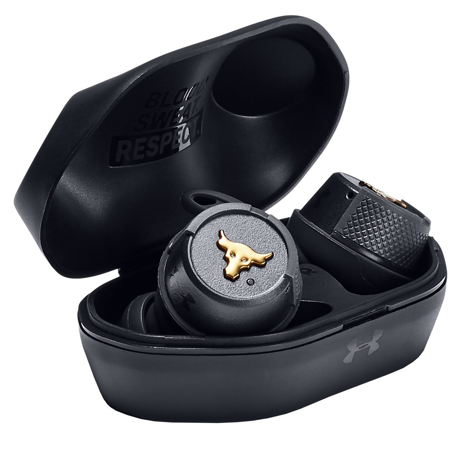 UA Project Rock True Wireless – Engineered by JBL - Black - True wireless sport headphones to maximize each and every workout, with JBL technology and sound - Detailshot 4