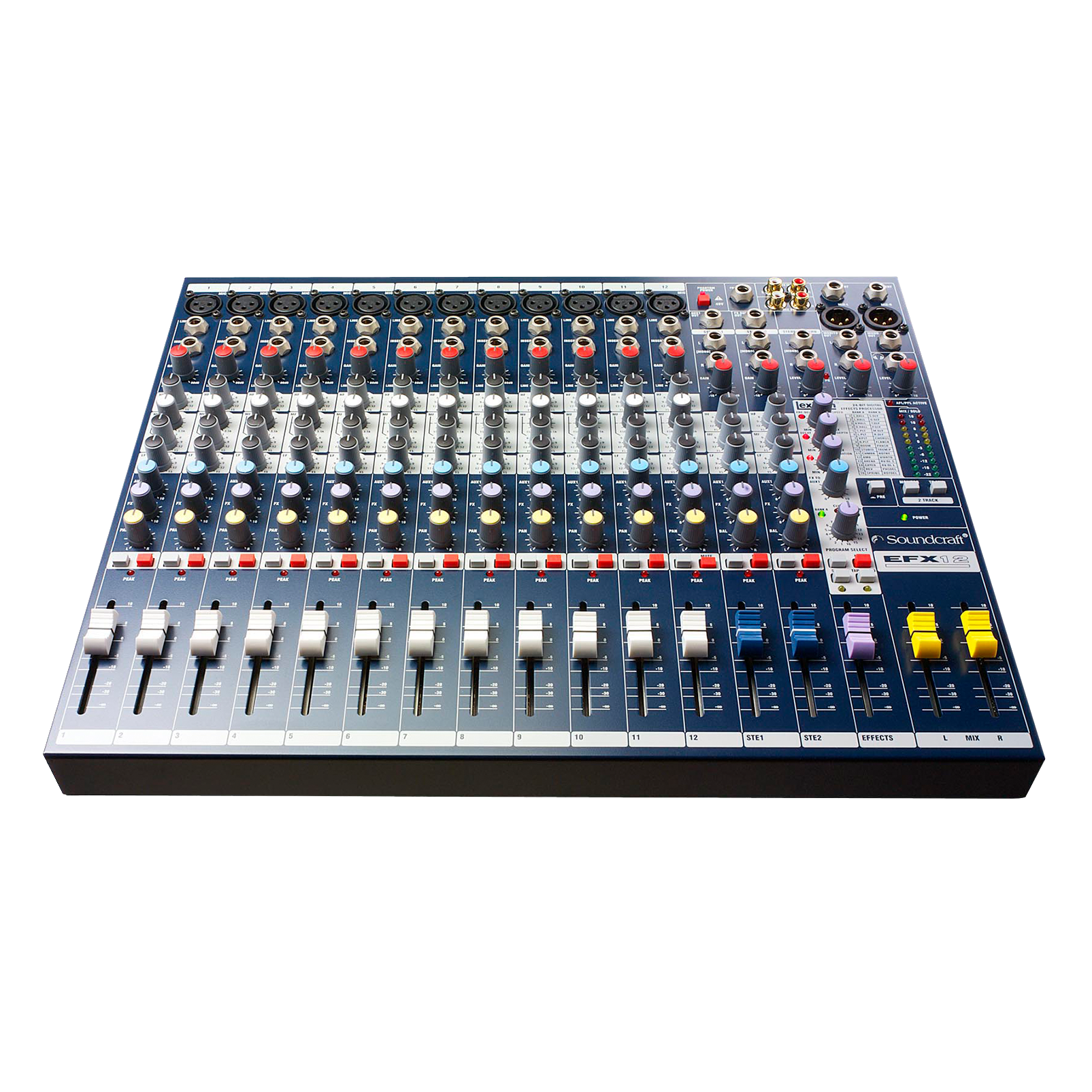 EFX12 - Dark Blue - Compact analogue 12 channel mixer with built in effects - Detailshot 1