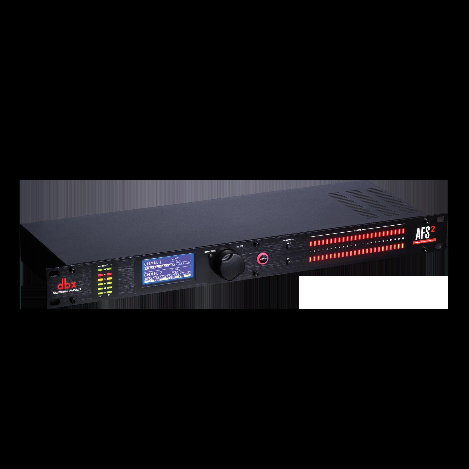 AFS2 - Black - Advanced Feedback Suppression® Processor with Full LCD Display - Hero